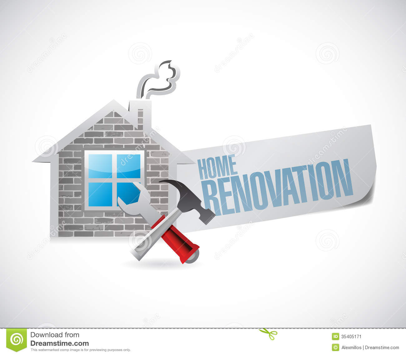 Home renovation symbol illustration design over a white background.