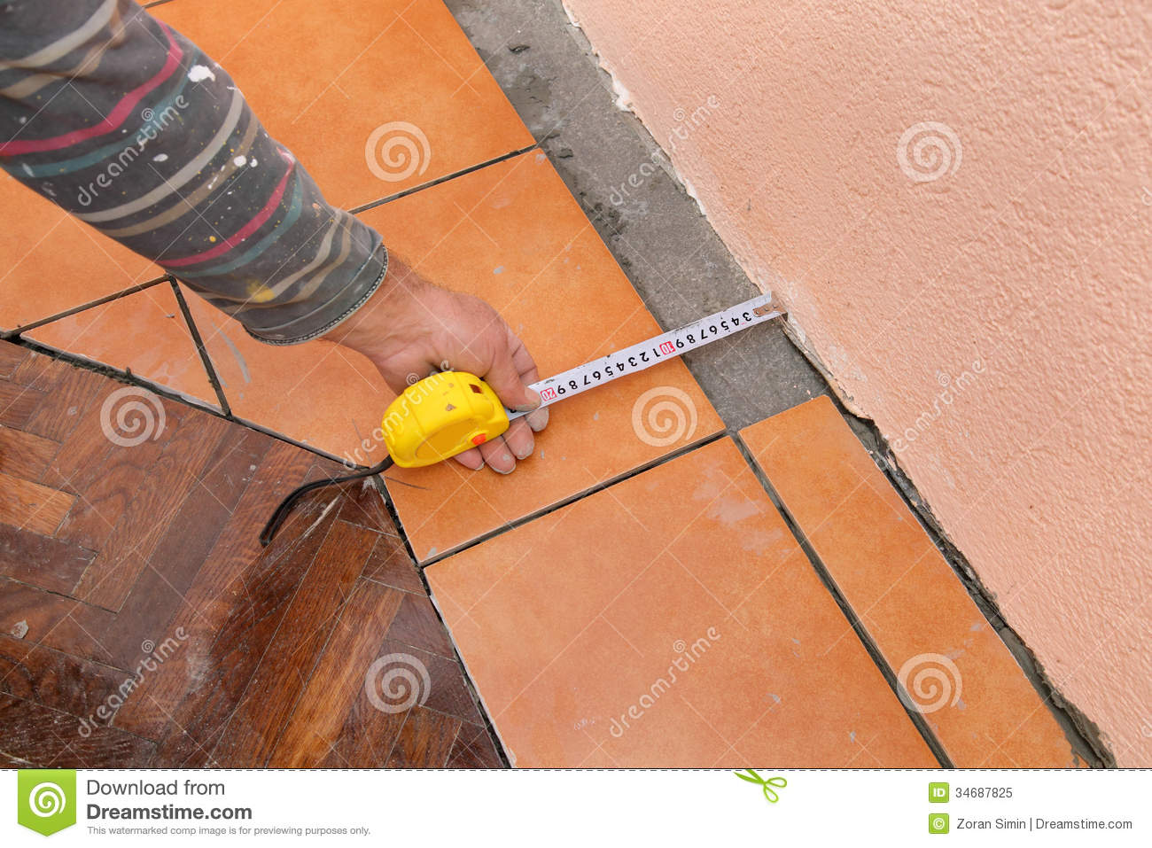 Floor Tile Workers : Home renovation tiles royalty free stock photo image