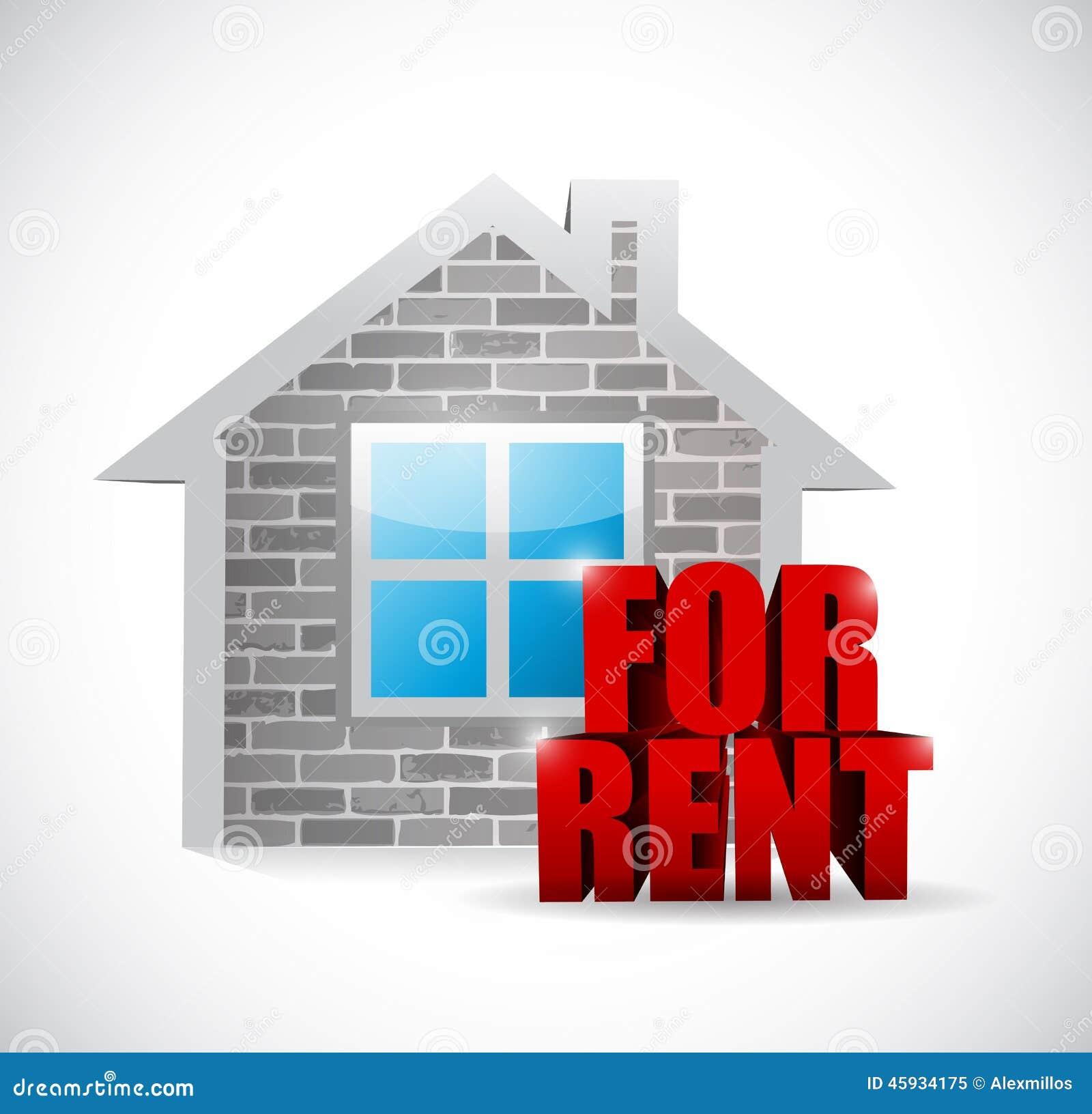 Home for rent illustration design stock illustration for Home for rent design