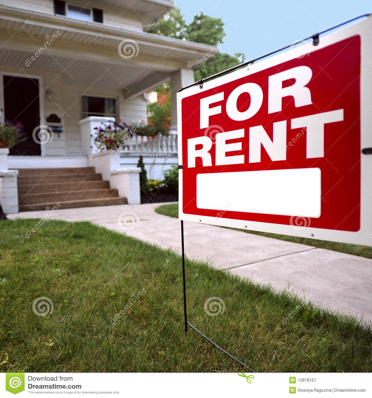 Rent Home: Home For Rent Sign Royalty Free Stock Photography
