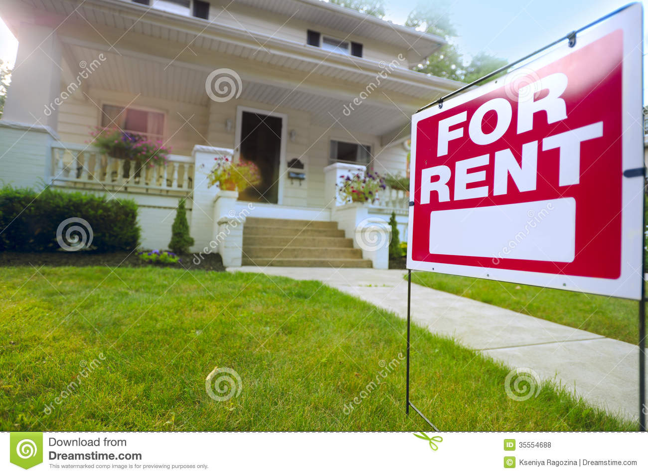 Home For Rent Sign Royalty Free Stock Photos - Image: 35554688