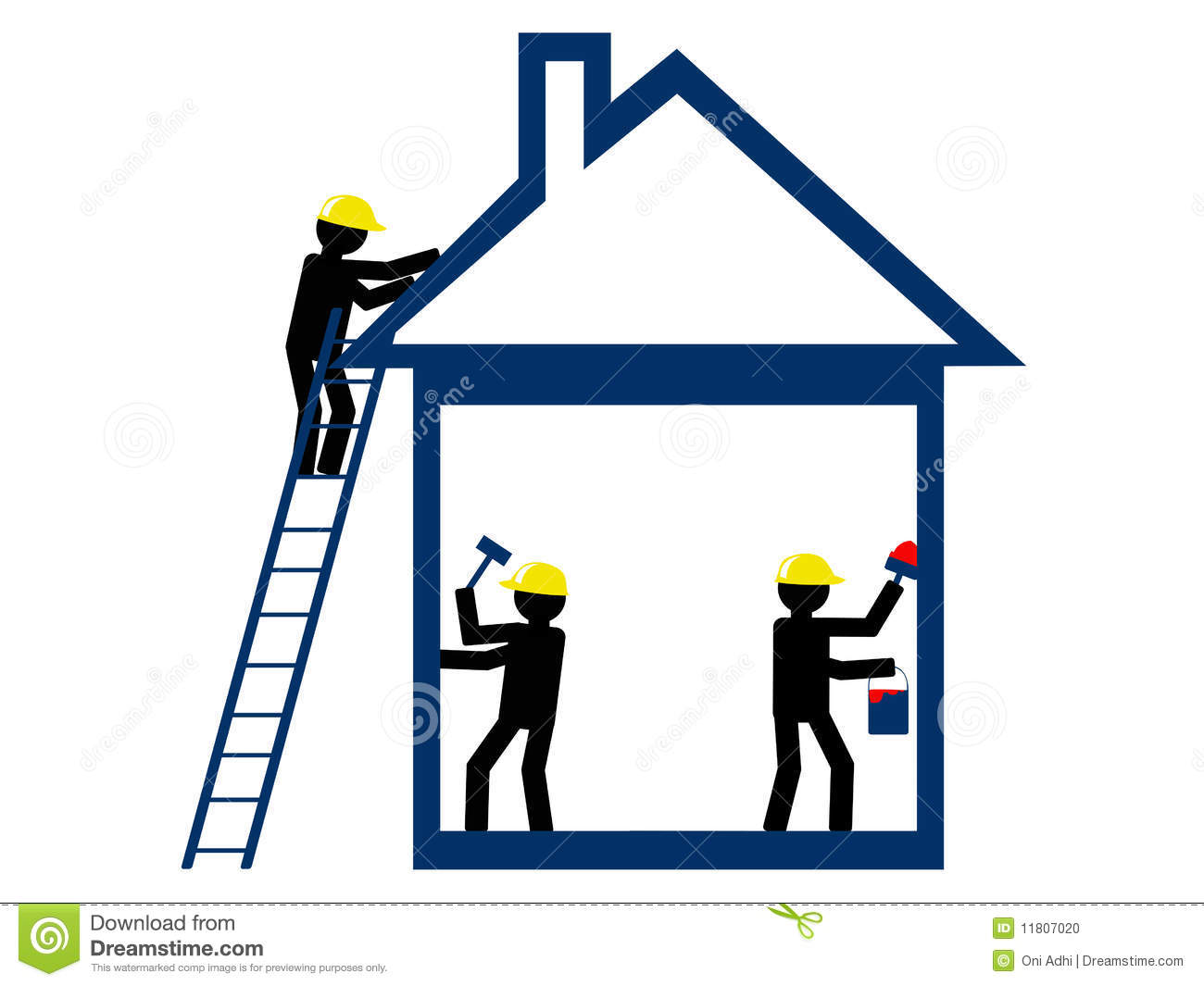 Home repair stock photo image 11807020 for House construction contractors
