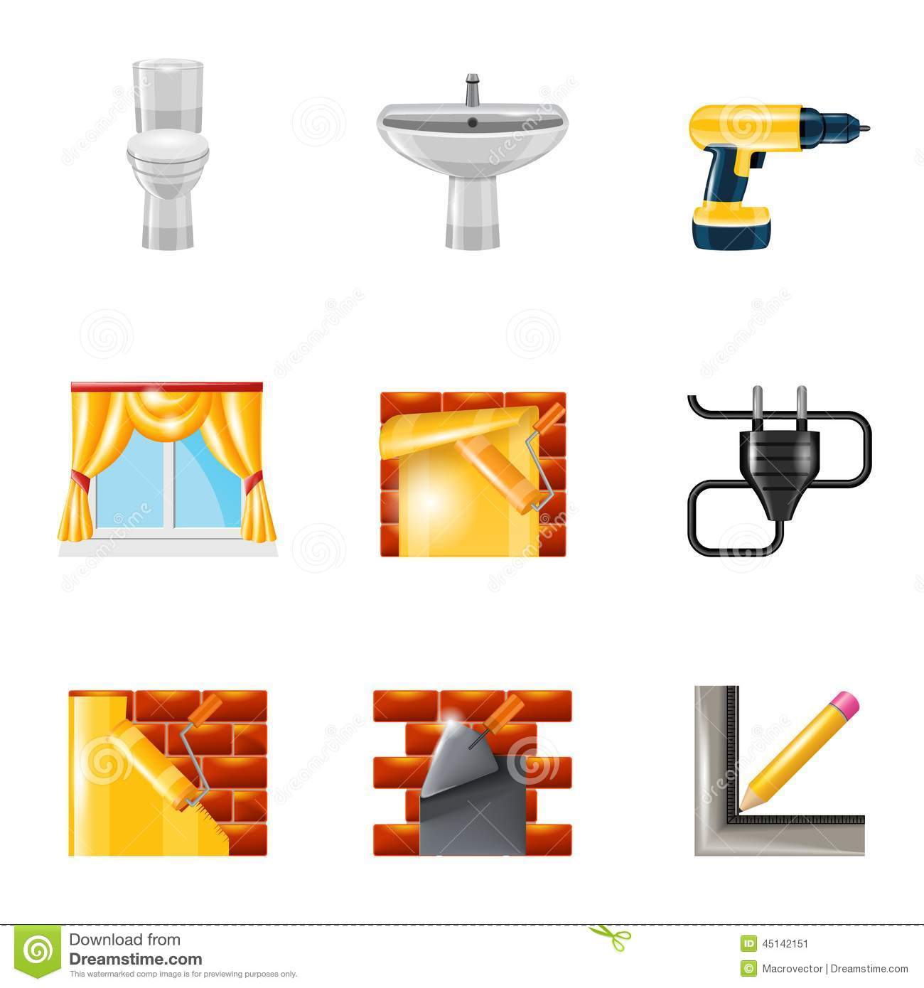 Home repair icons vector illustration for Wallpaper home improvement questions