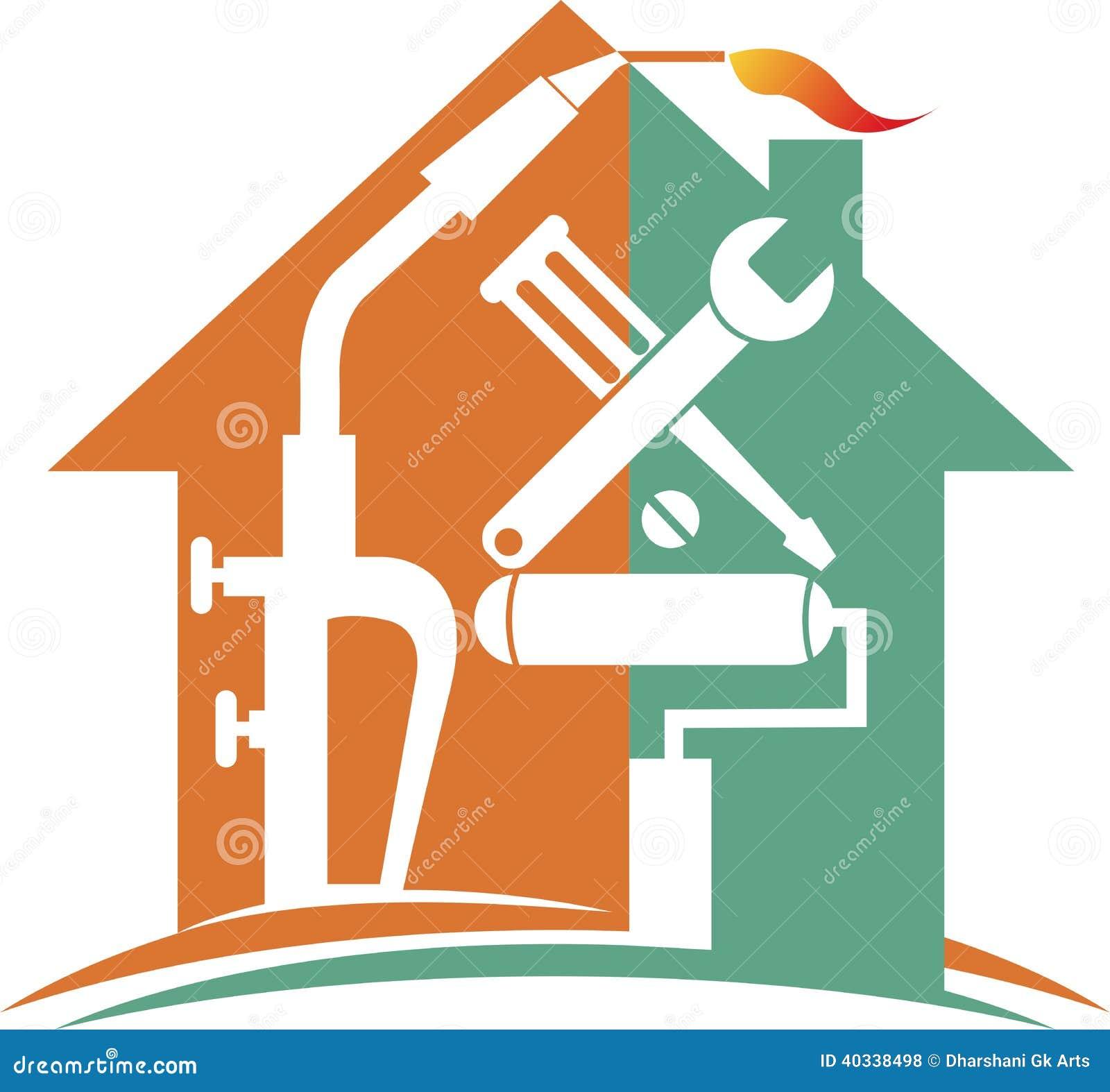 home repair logo stock vector illustration of artwork 40338498 rh dreamstime com home repair logo ideas Home Repair Logo Clip Art