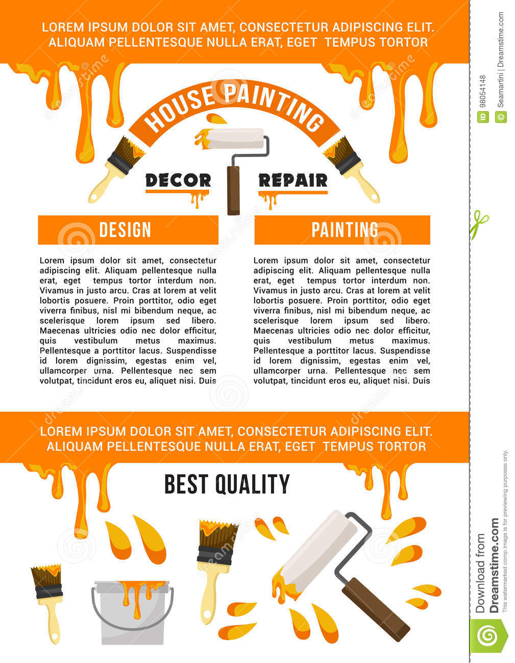 Home Repair And Painting Service Banner Template Stock Vector Illustration Of Instrument Flyer 98054148