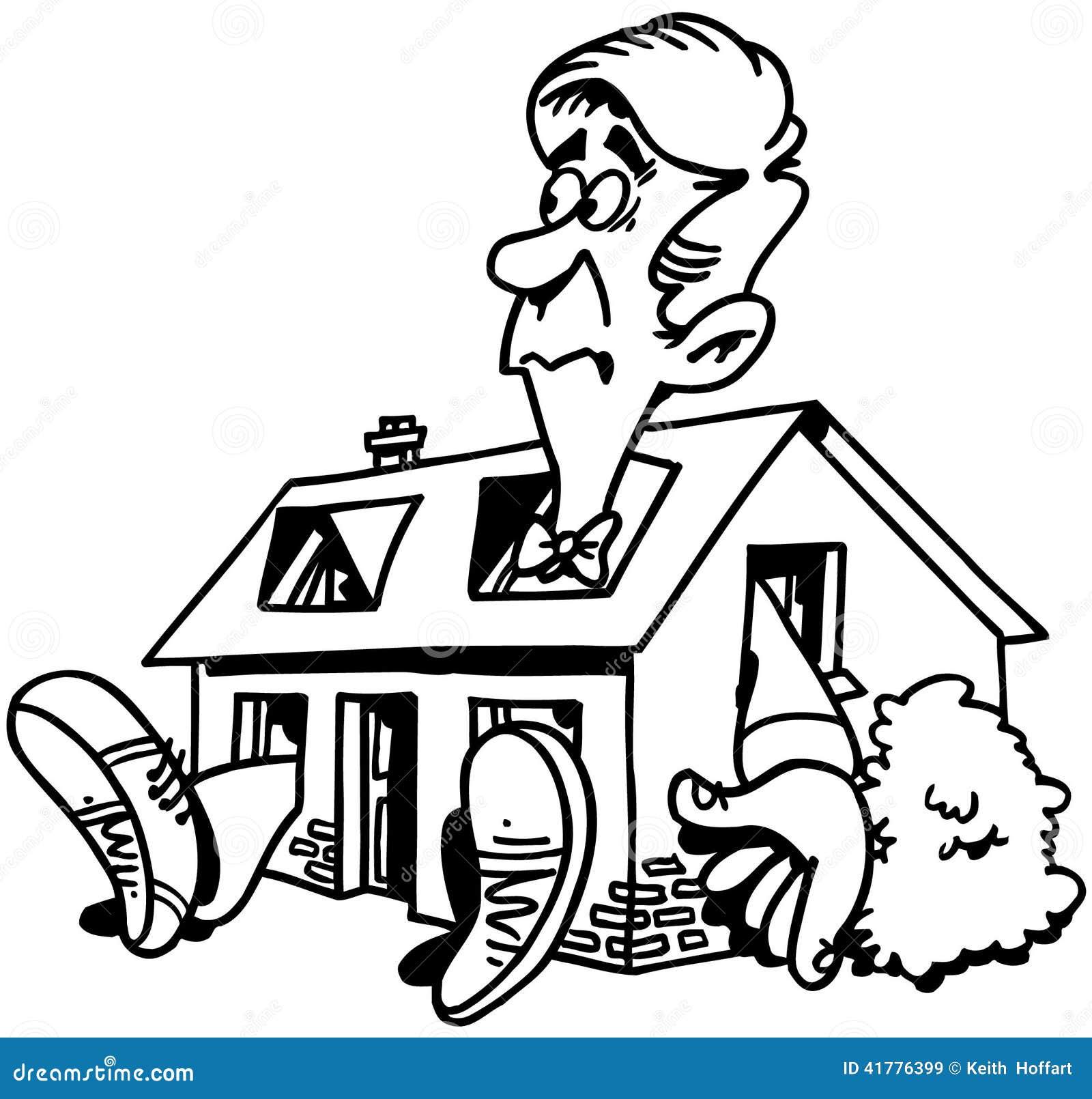 Home repair real estate cartoon vector clipart stock for Clipart estate