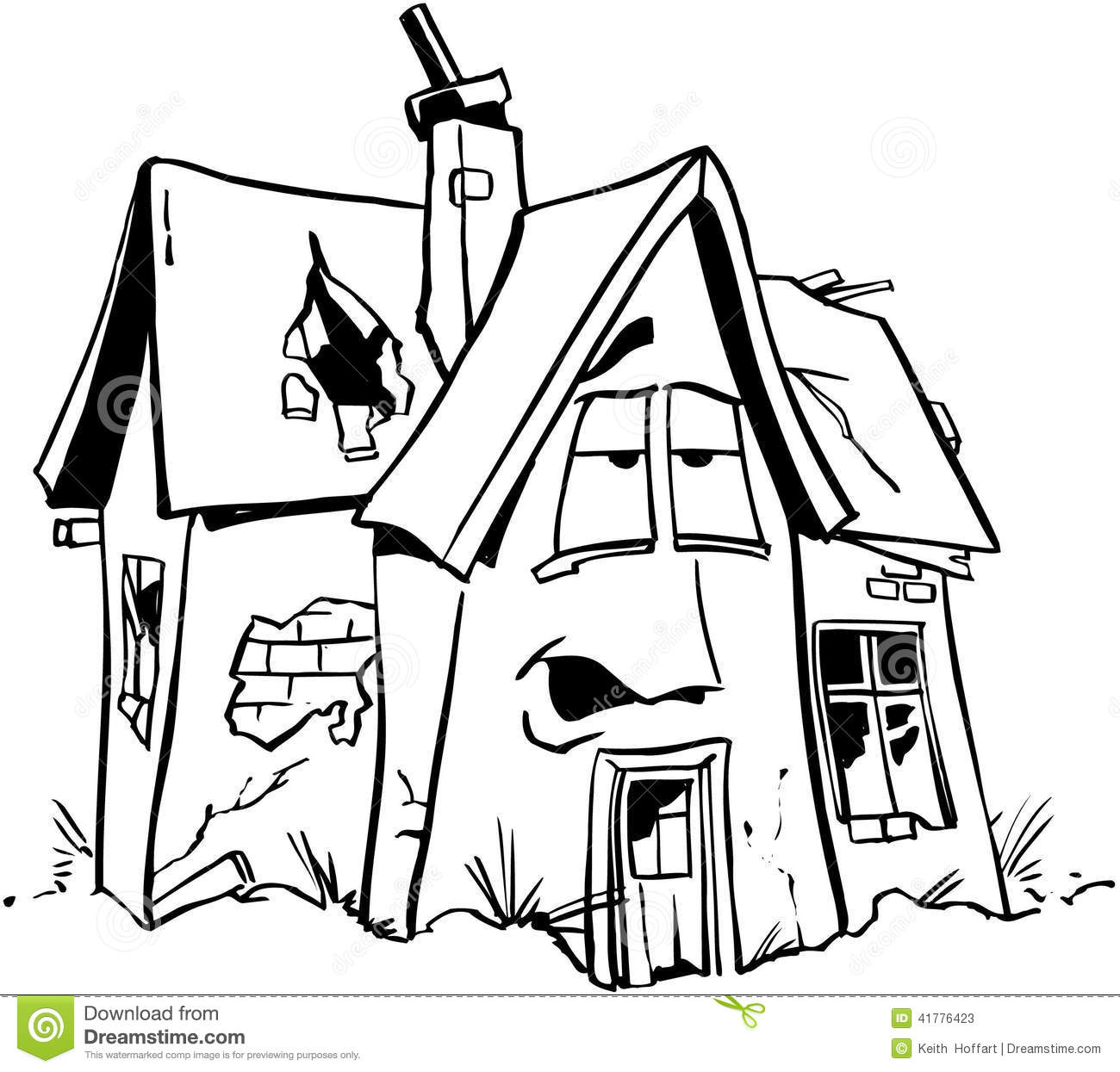 Home Repair Real Estate Cartoon Vector Clipart Stock