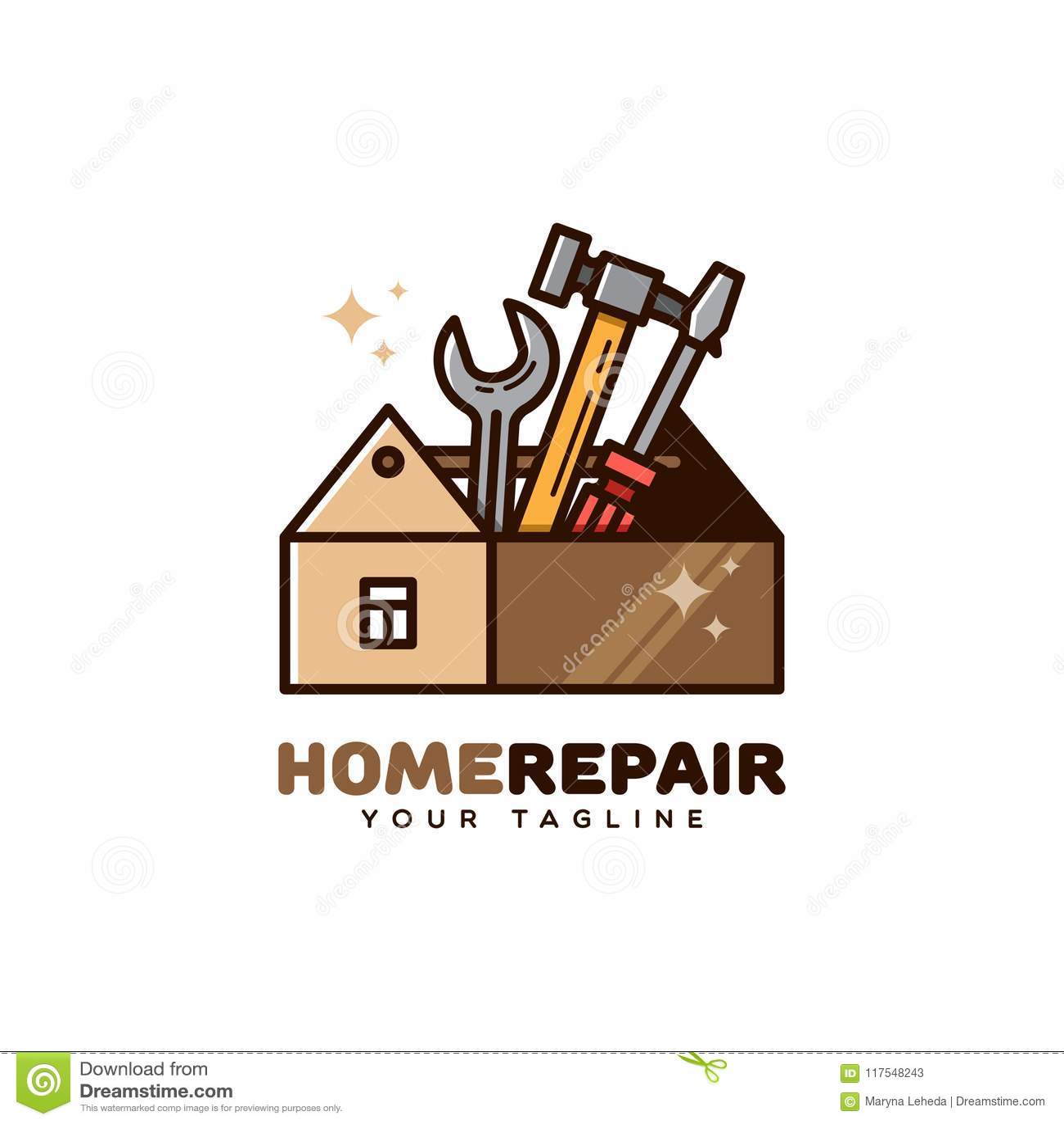 Home Repair Service Logo Stock Vector Illustration Of Repair 117548243