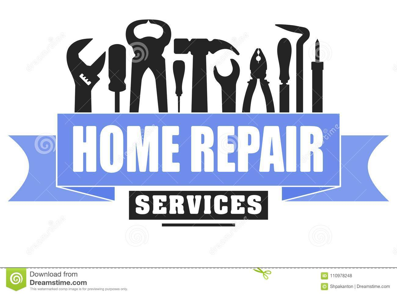 Home Repair Services Vector Design For Your Logo Or Emblem With