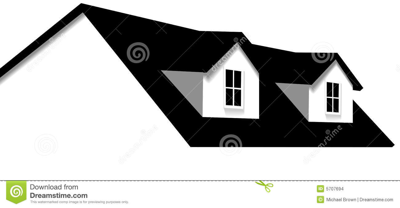 Home Roof House 2 Dormer Windows Stock Vector Image 5707694