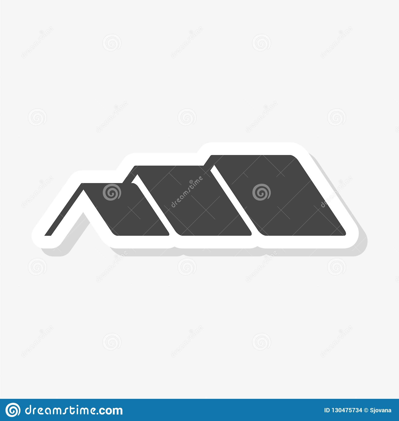 Home Roof Sticker House Roof Icon Logo Stock Vector Illustration