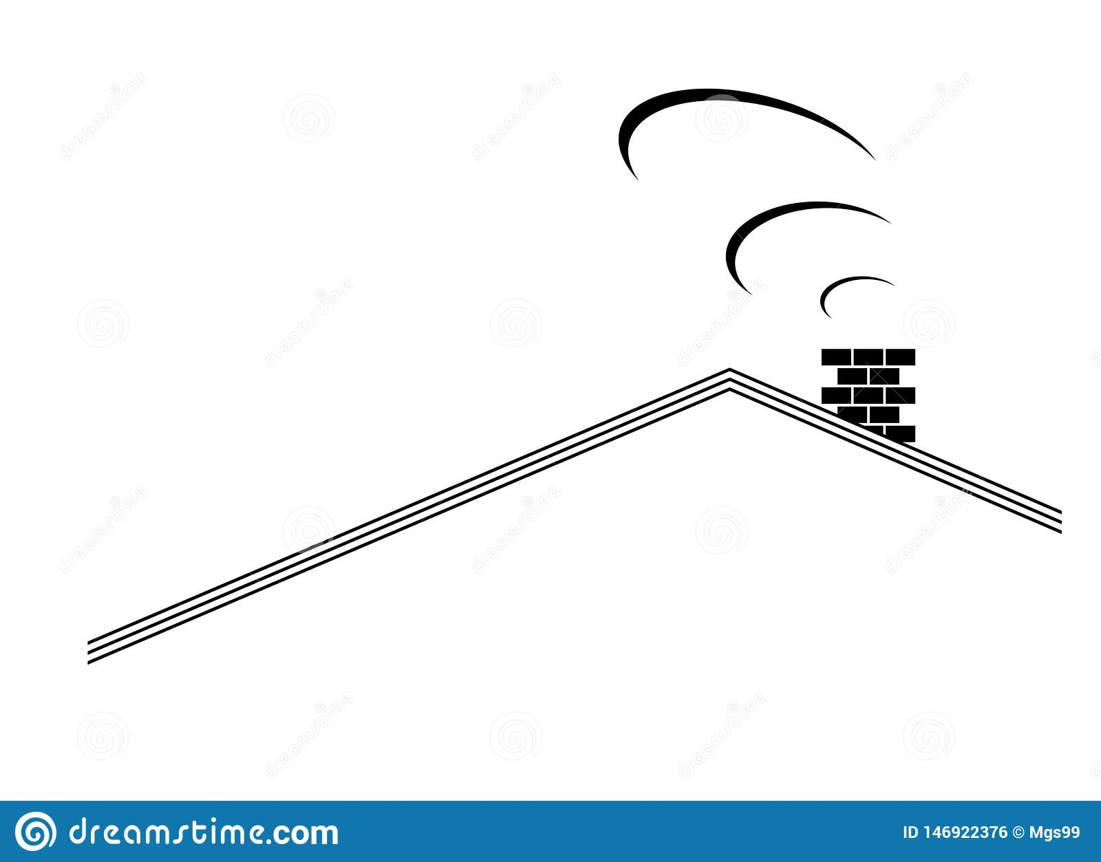 A Home Roof Top Graphic Design Stock Illustration Illustration Of Clip White 146922376