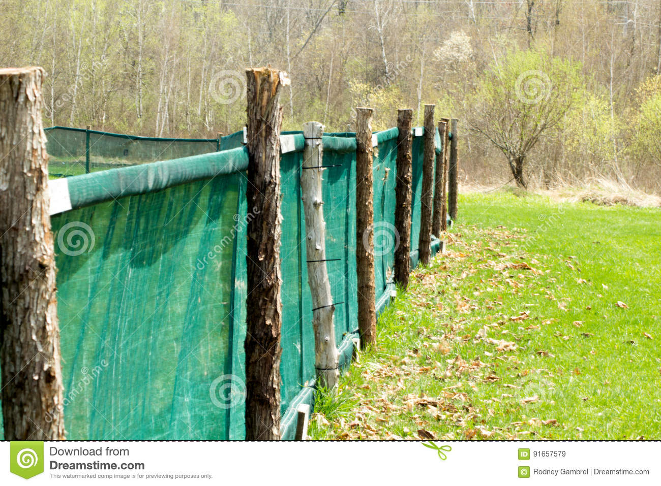 Home Run Fence Stock Image Image Of Fence Home Post 91657579