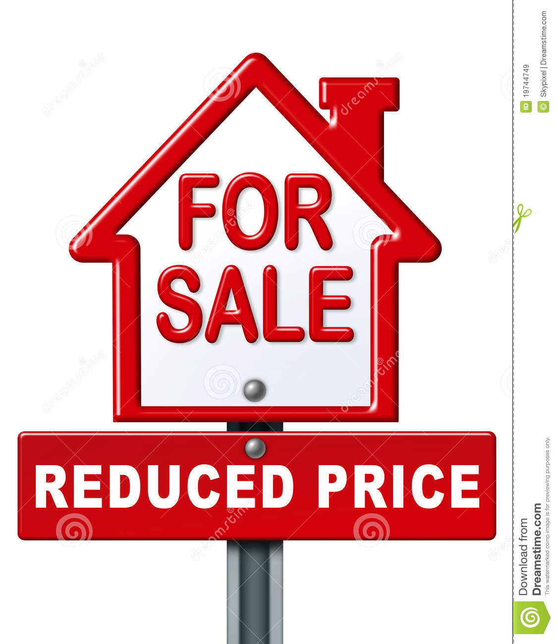 Home sale reduced price sign royalty free stock images for On the property sale prices