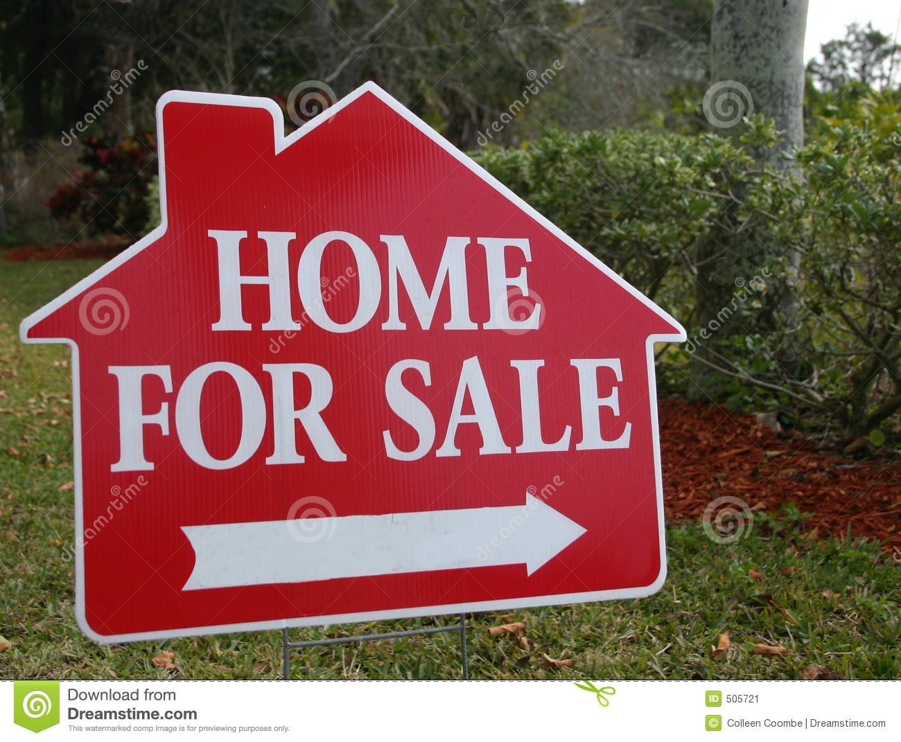 Home For Sale Sign Stock Image Image 505721