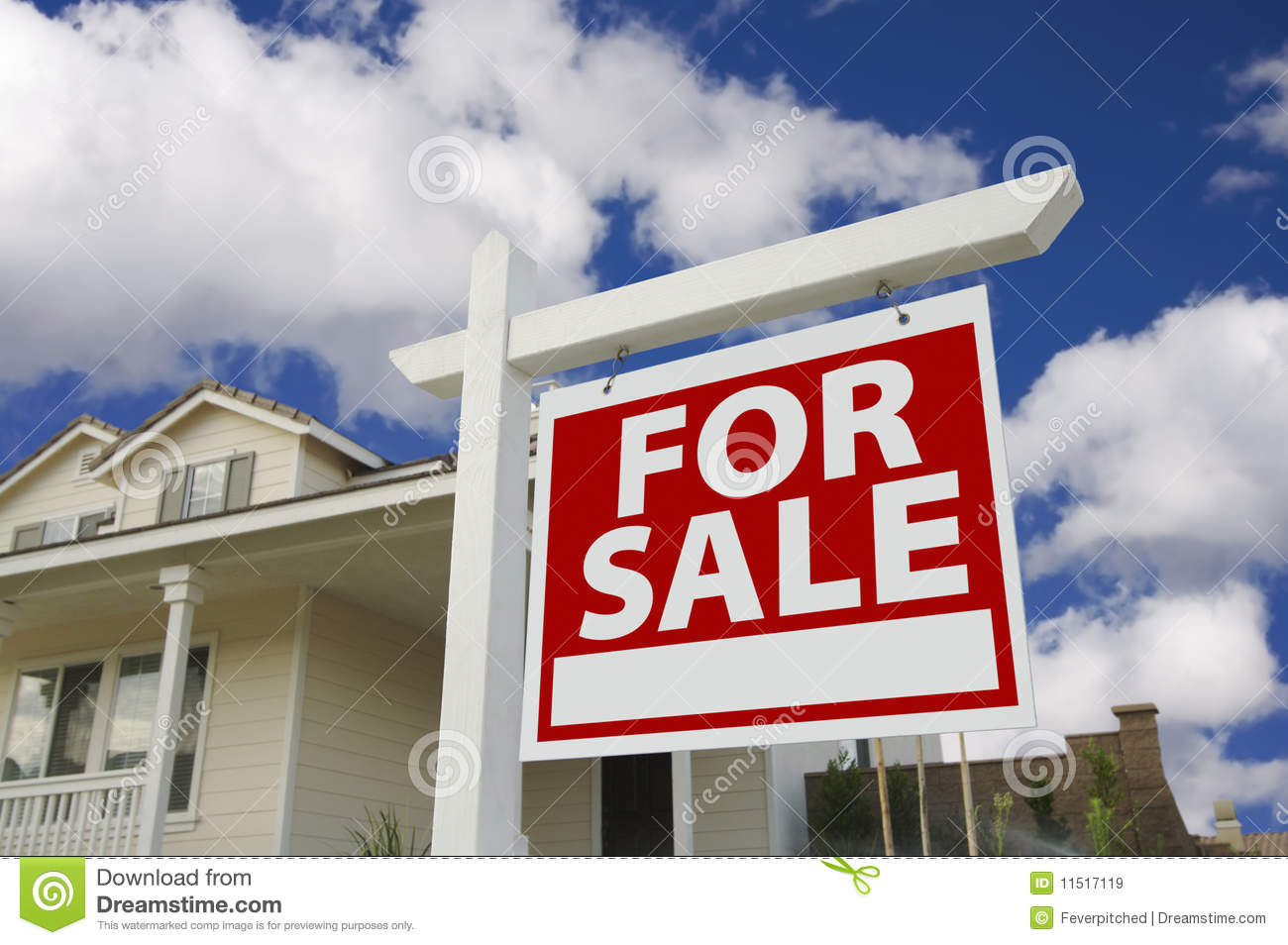Home for sale sign new home royalty free stock images for New home sign