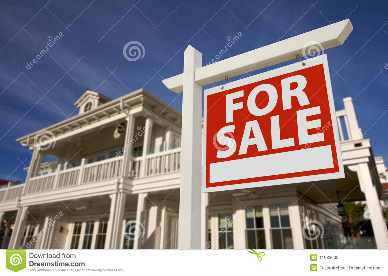 Home for sale sign new home stock image image 11683603 for New home sign