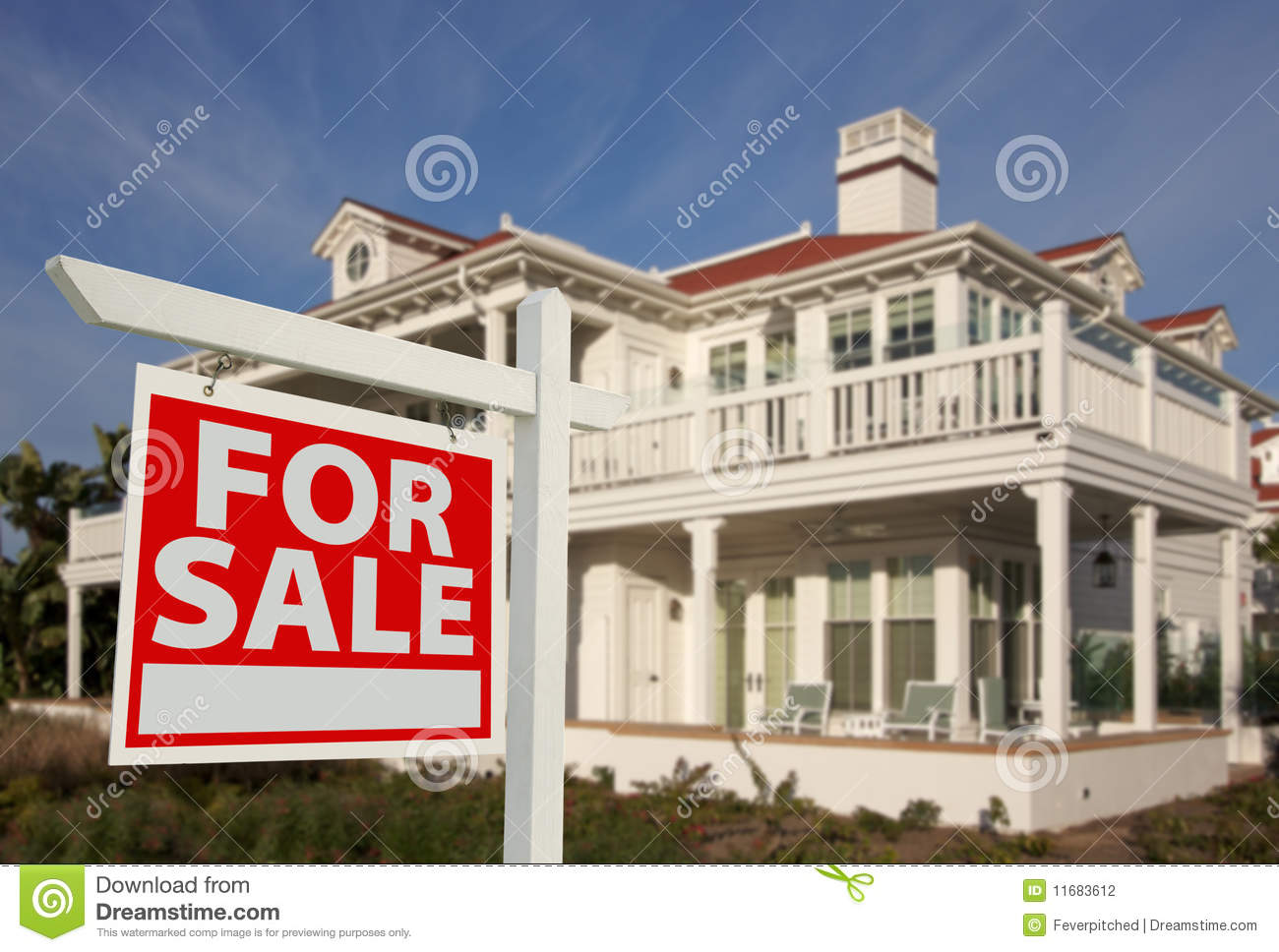 Home for sale sign new home stock photography image for New home sign