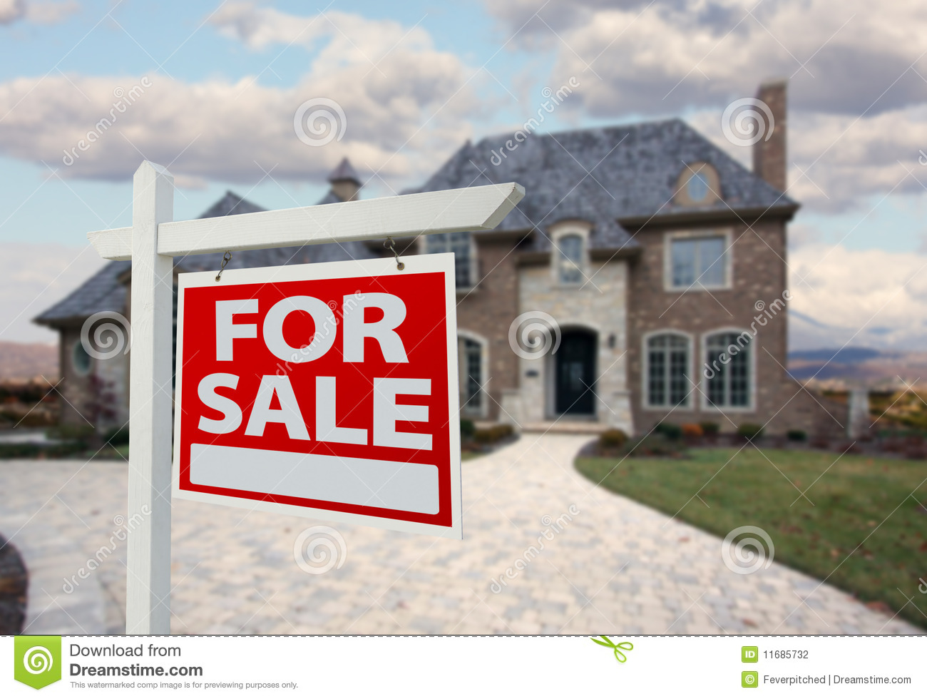 Home for sale sign new house stock photography image for New home sign