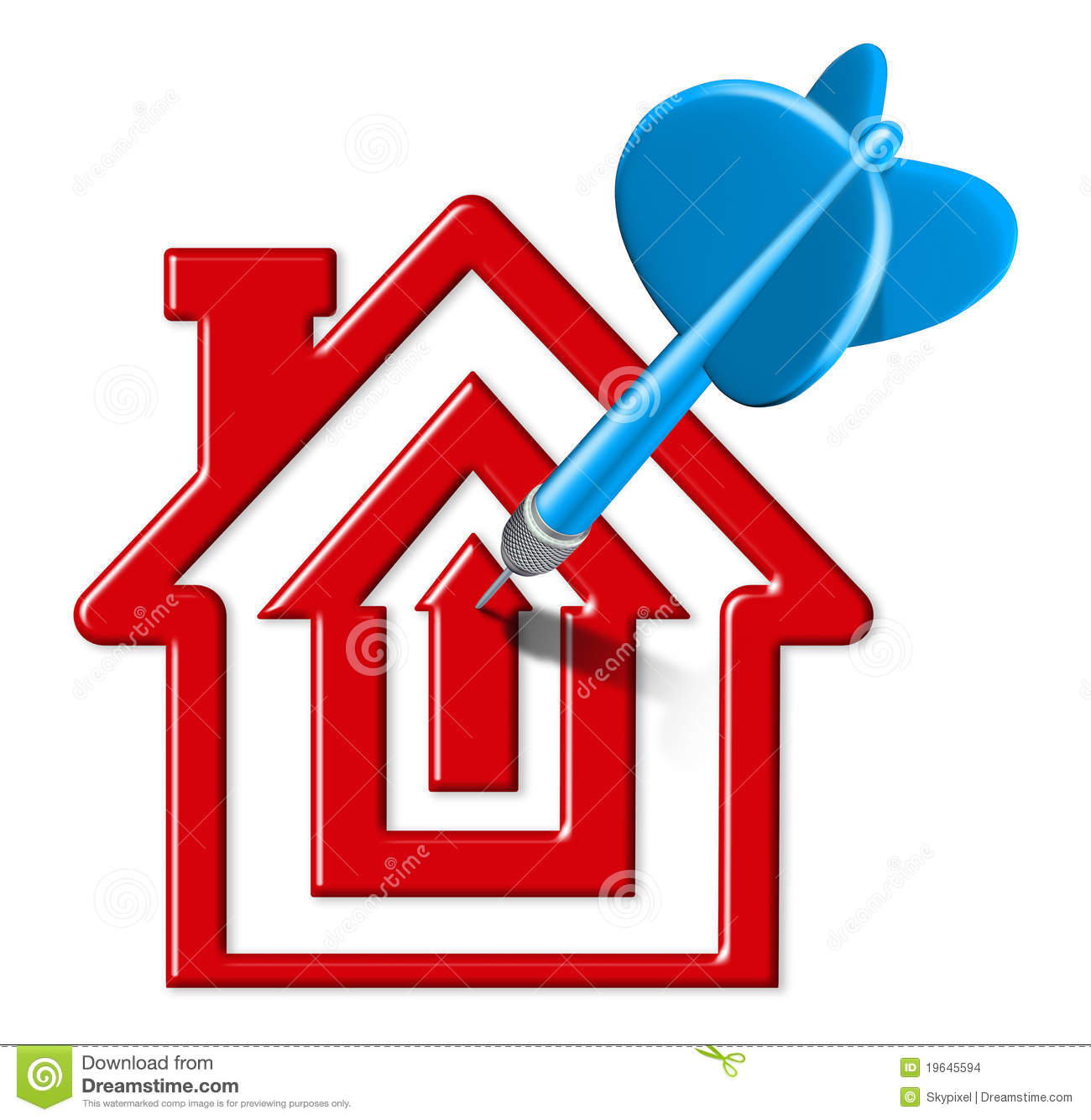 Target Home: Home Sales Target Stock Illustration. Illustration Of