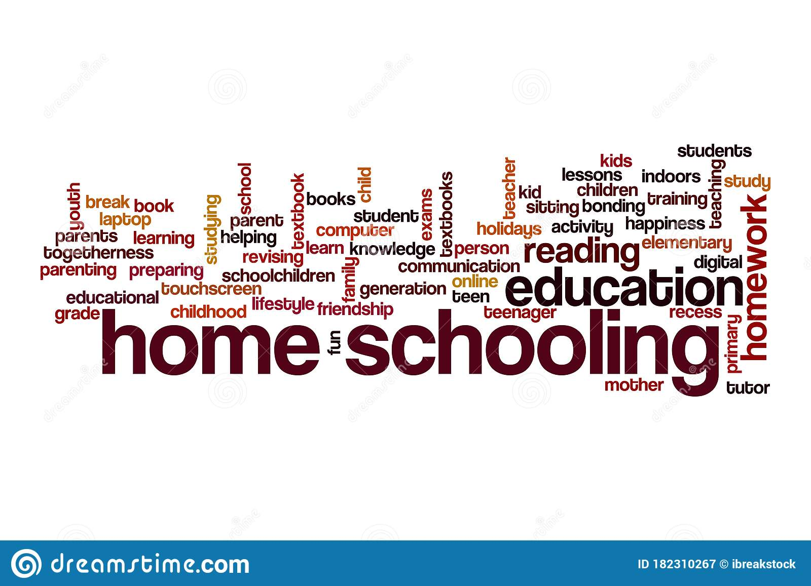 Home Schooling Word Cloud Concept Stock Illustration ...