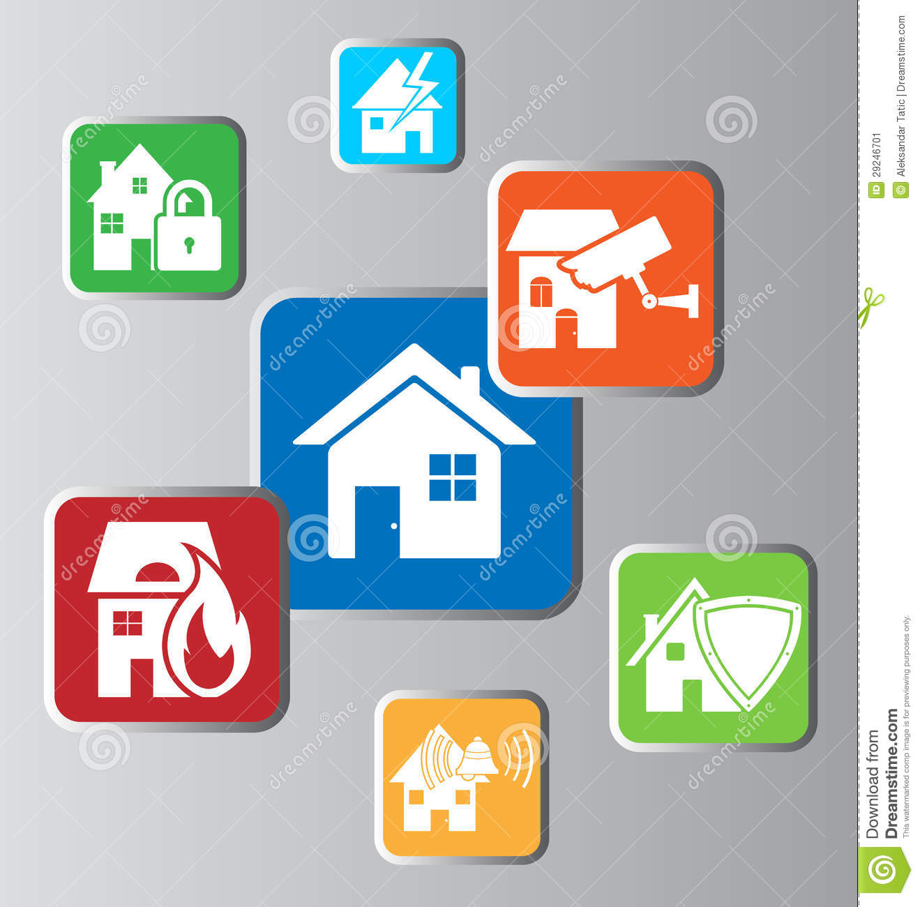 Home Security Stock Image Image 29246701