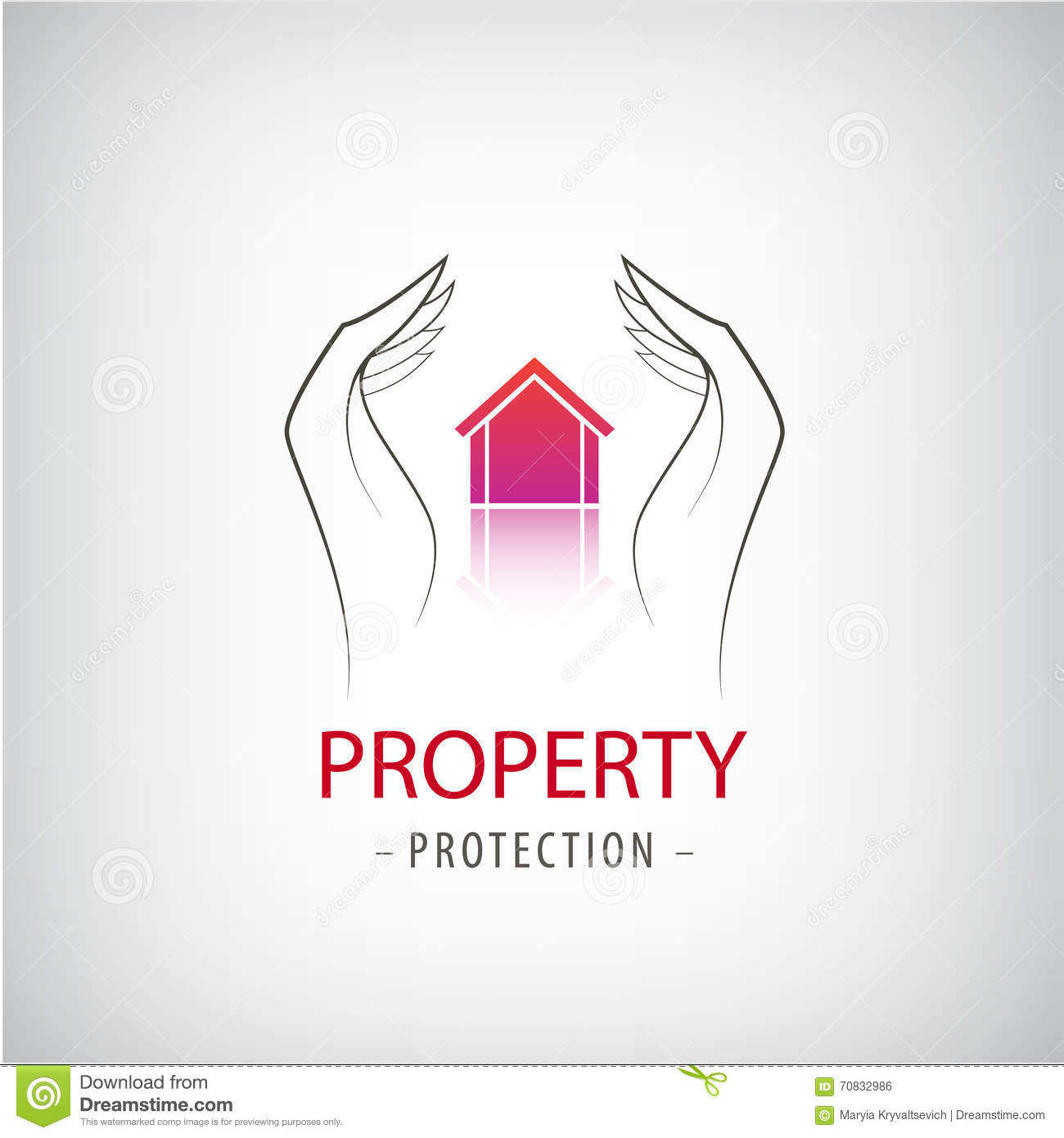 Home Security Business Symbol. Unique Icon Concept For Insurance ...
