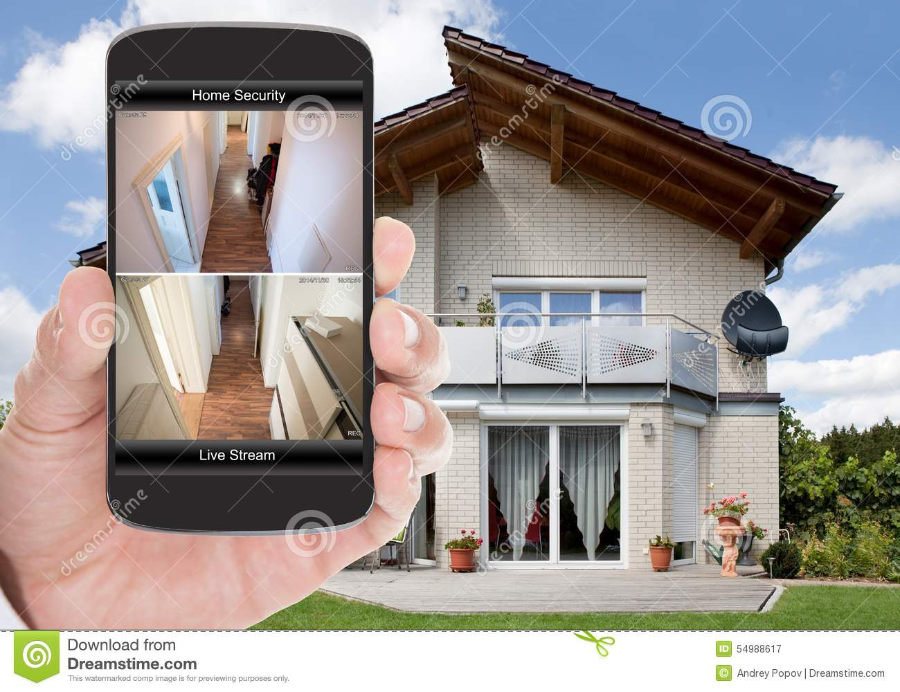 Home Security Stock Image Image Of House Code Press