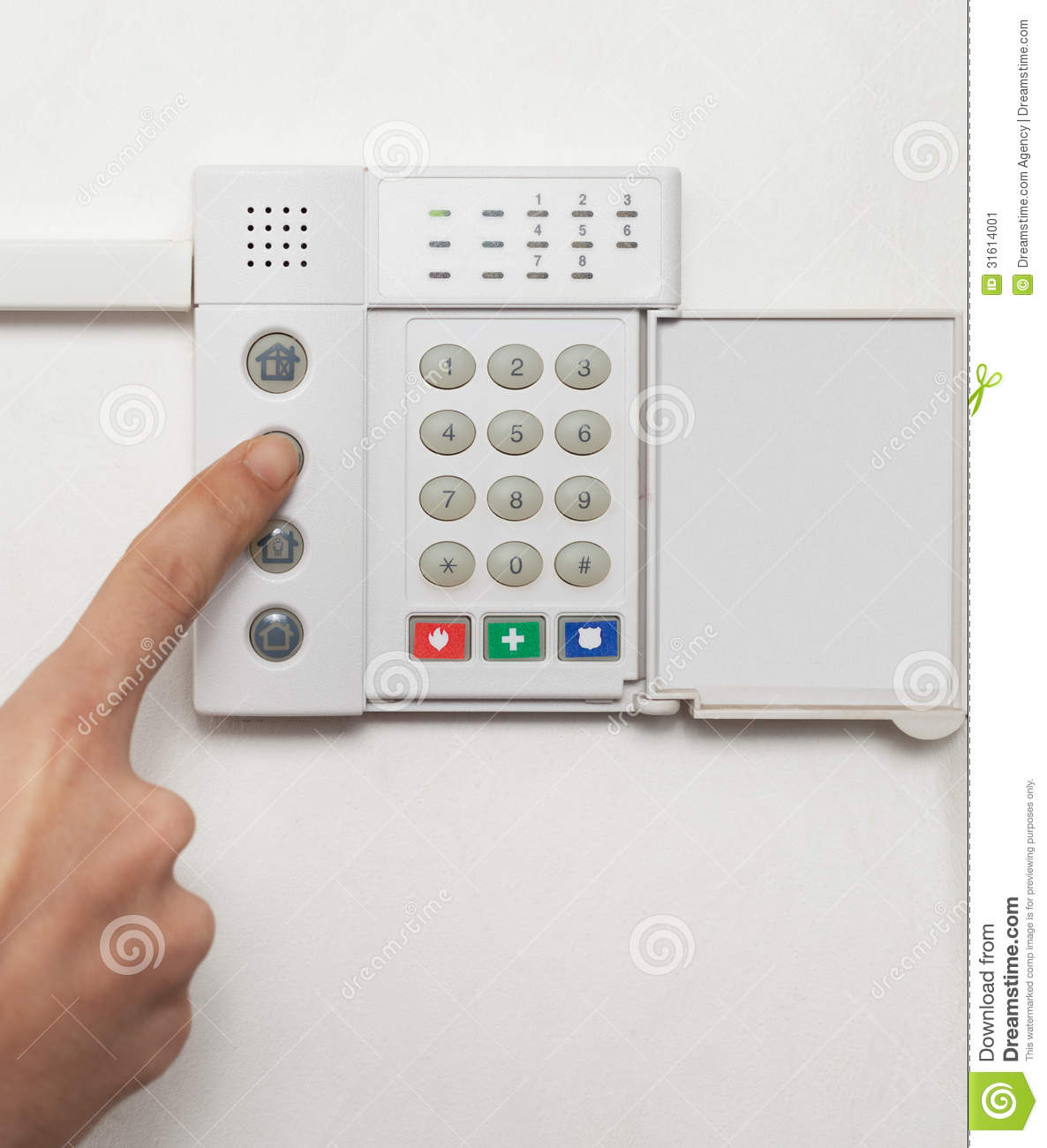 Home Security Stock Image Of Emergency Help Hand 31614001 Light Fence Beeper
