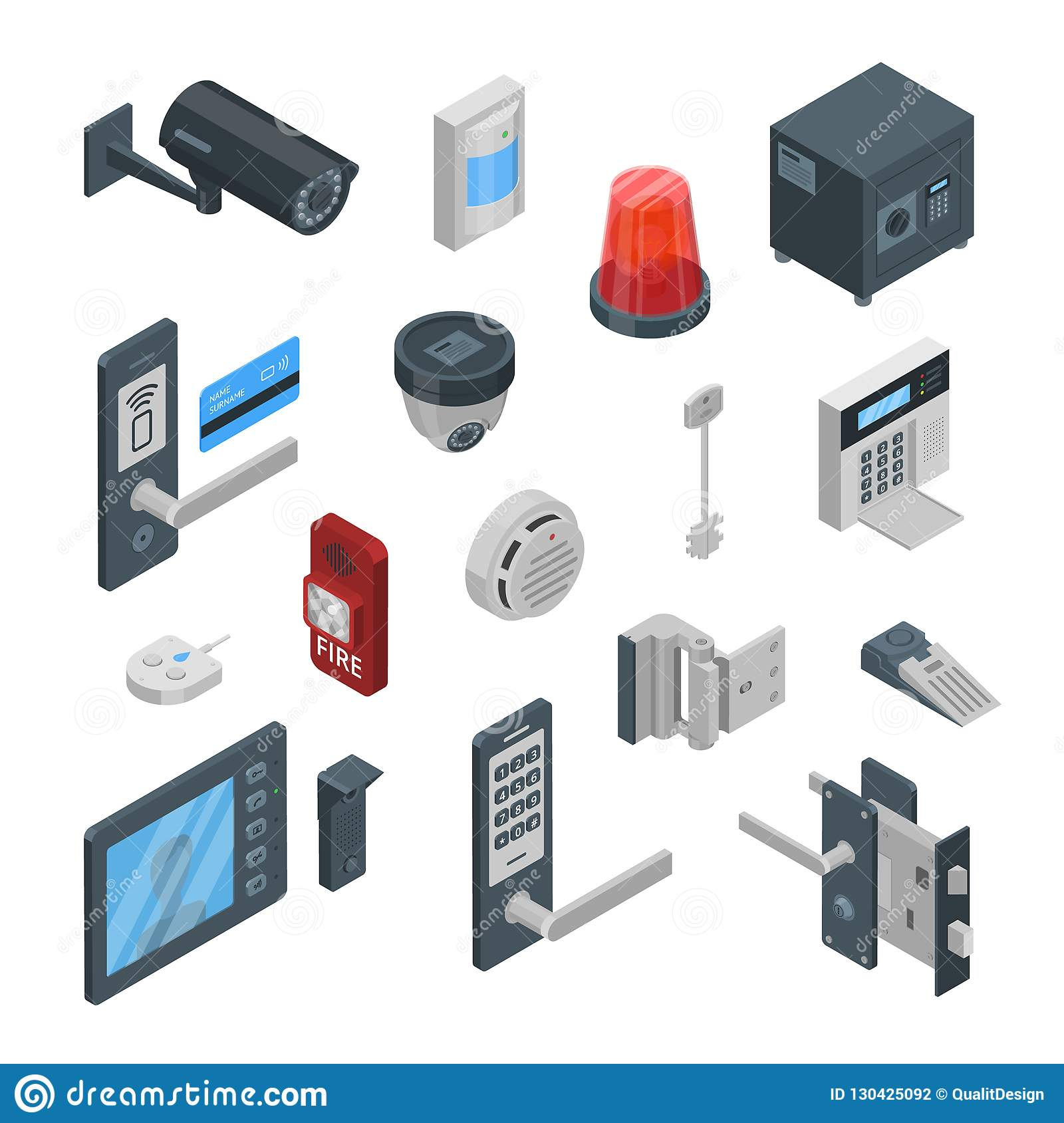 Home security systems vector 3d isometric icons and design - How to design a home security system ...