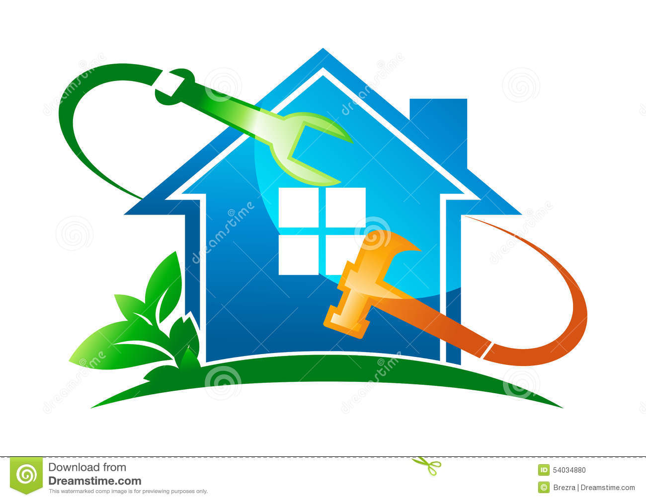 Home service logo stock vector image of group for Home design services