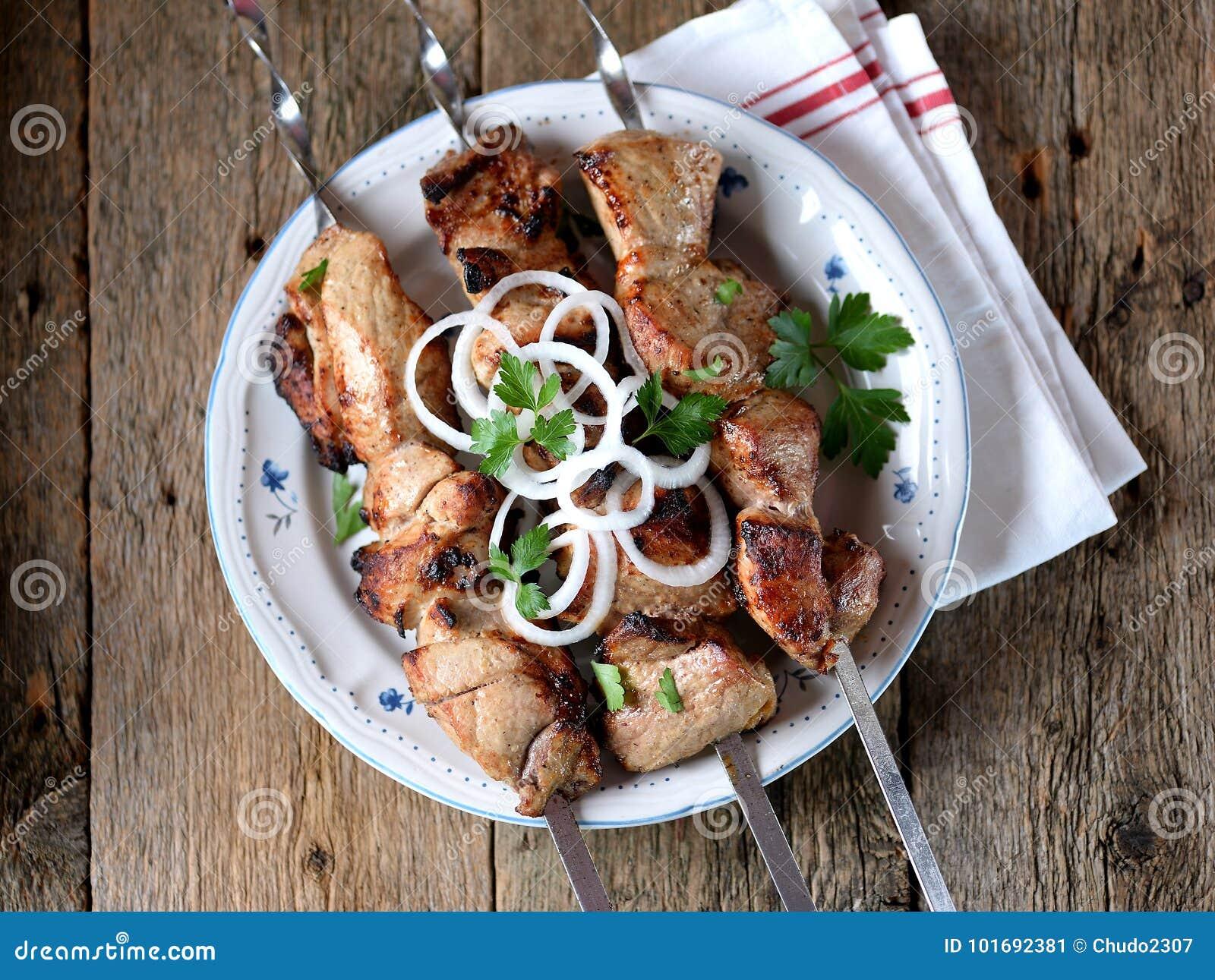 How to pickle pork shish kebab
