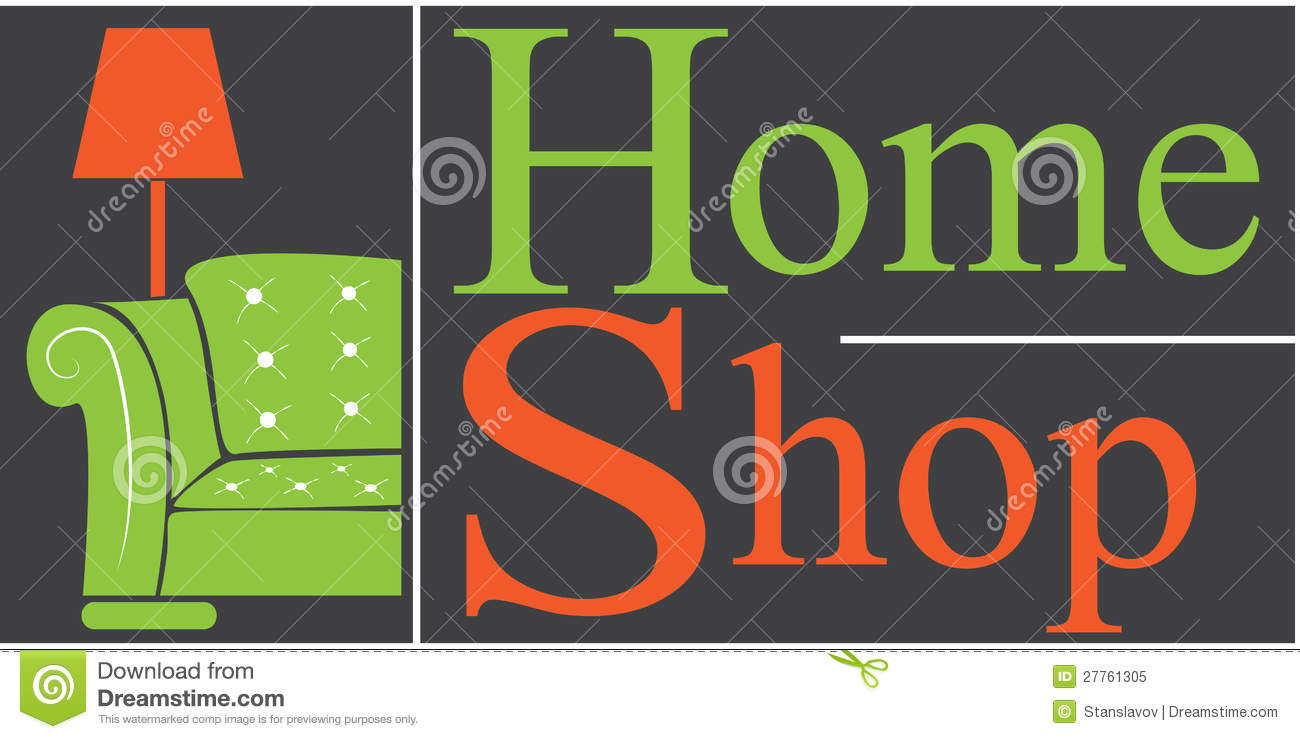 Home Shop Logo Royalty Free Stock Photo Image 27761305