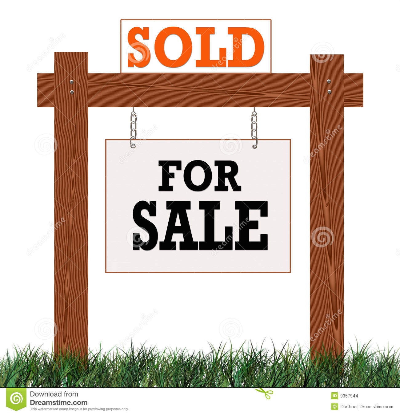 Home Sold Sign Stock Images Image 9357944