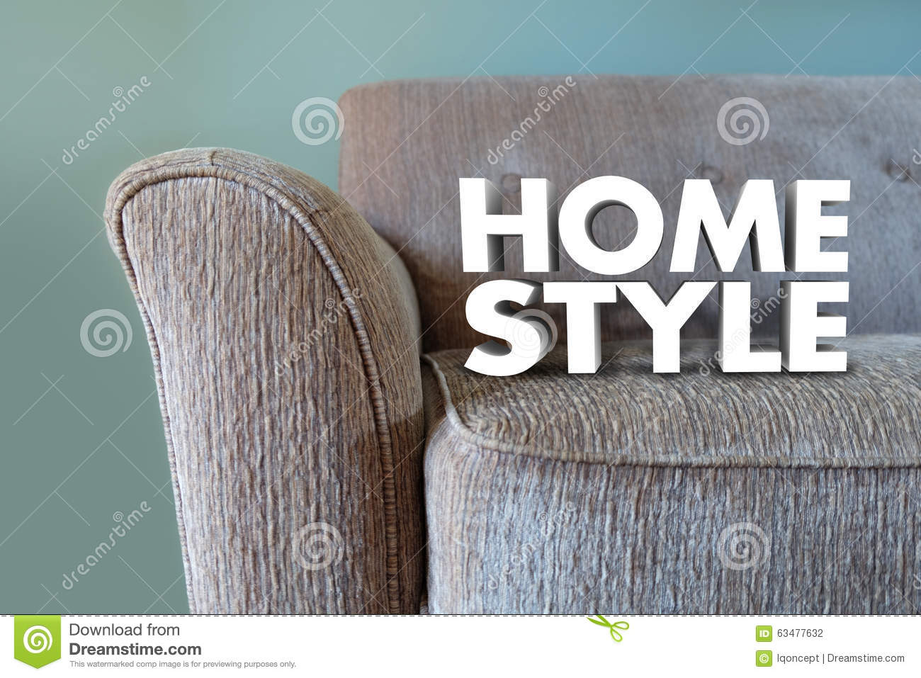 Lovely Home Style Couch Furniture Interior Design Decor