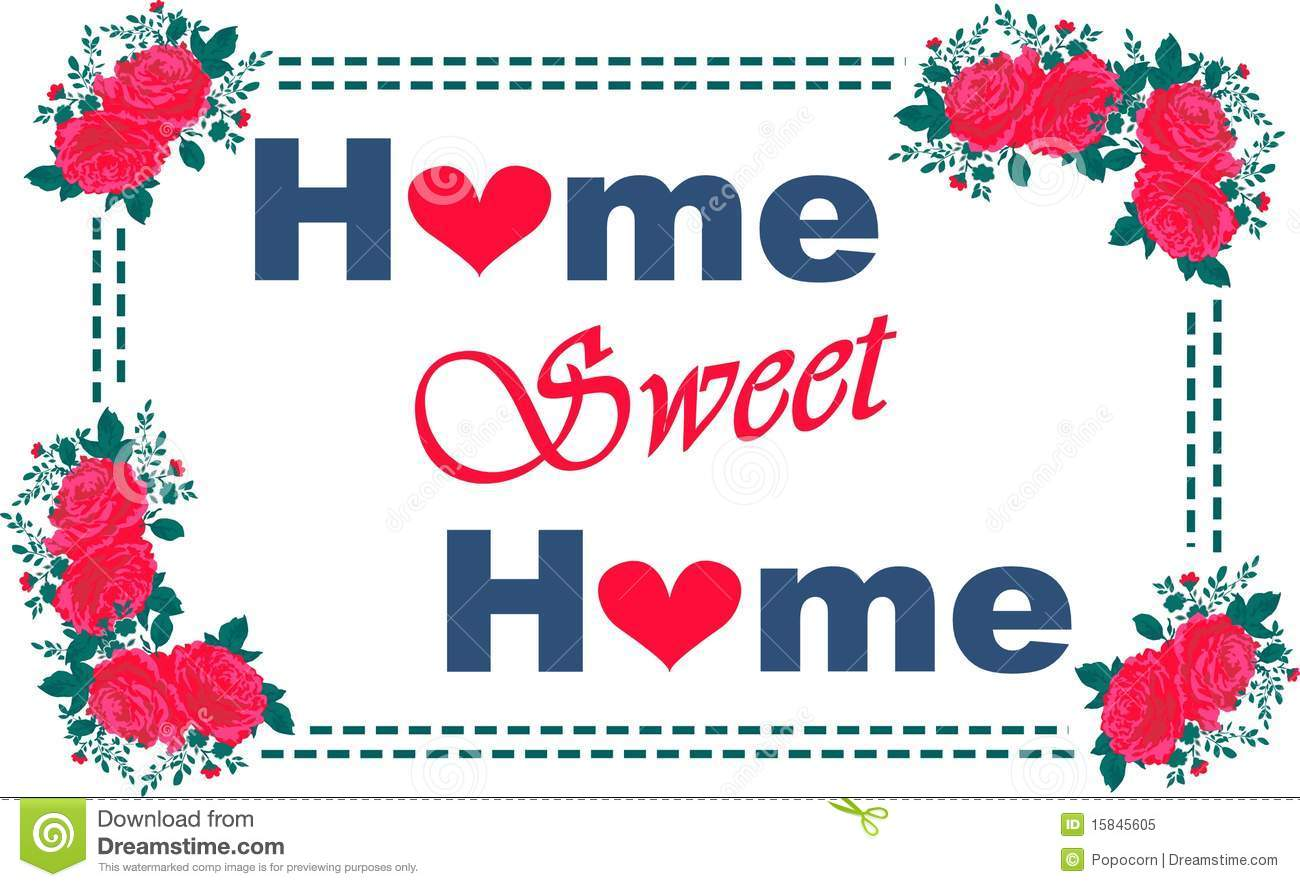 Home Sweet Home Clipart Home sweet home pattern in