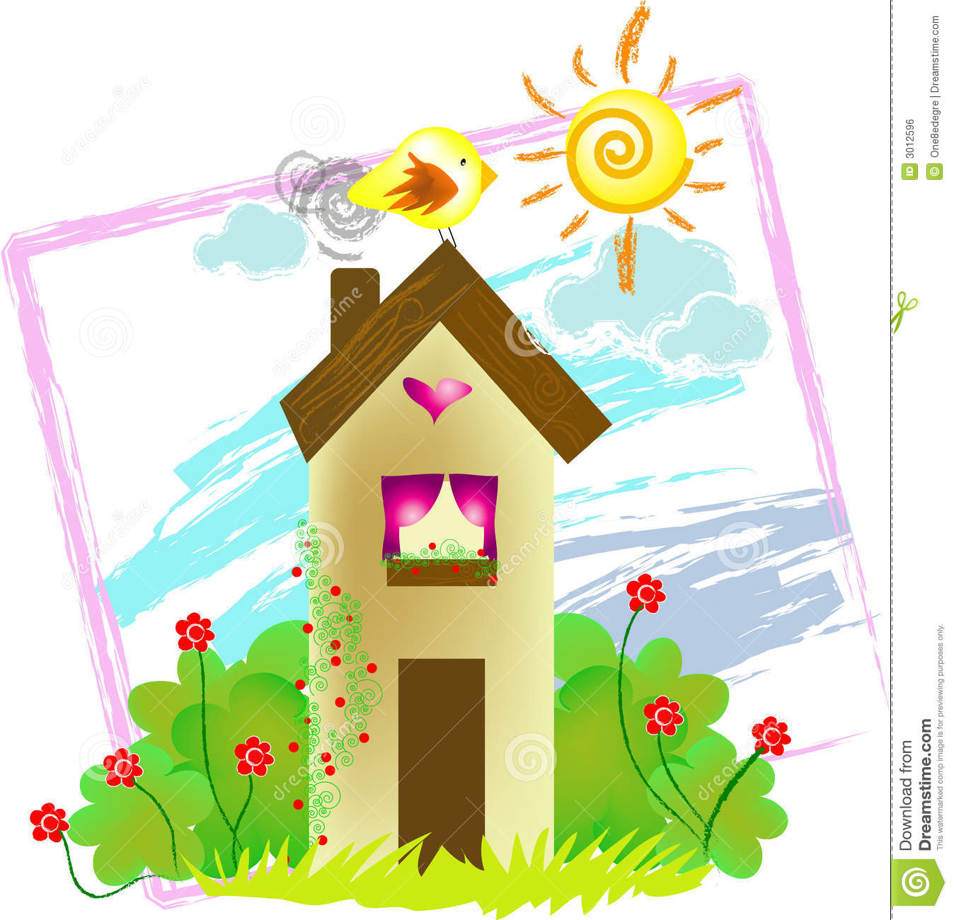 Royalty Free Stock Image Home Sweet Home Image3012596 on 2d house drawing