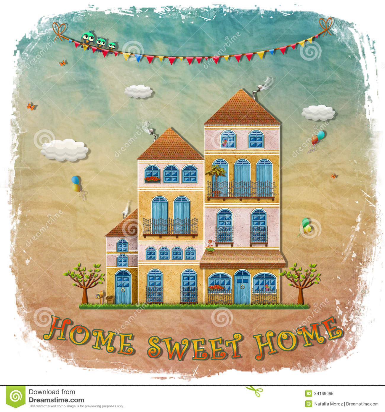Home Sweet Home Vintage exceptional cottage style home plans #8: home-sweet-home-cartoon