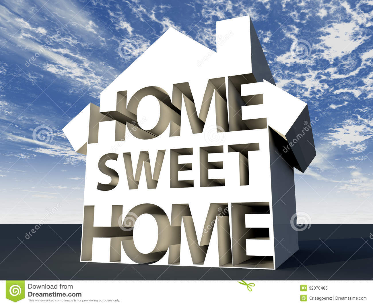 Home Sweet Home Royalty Free Stock Photo  Image: 32070485