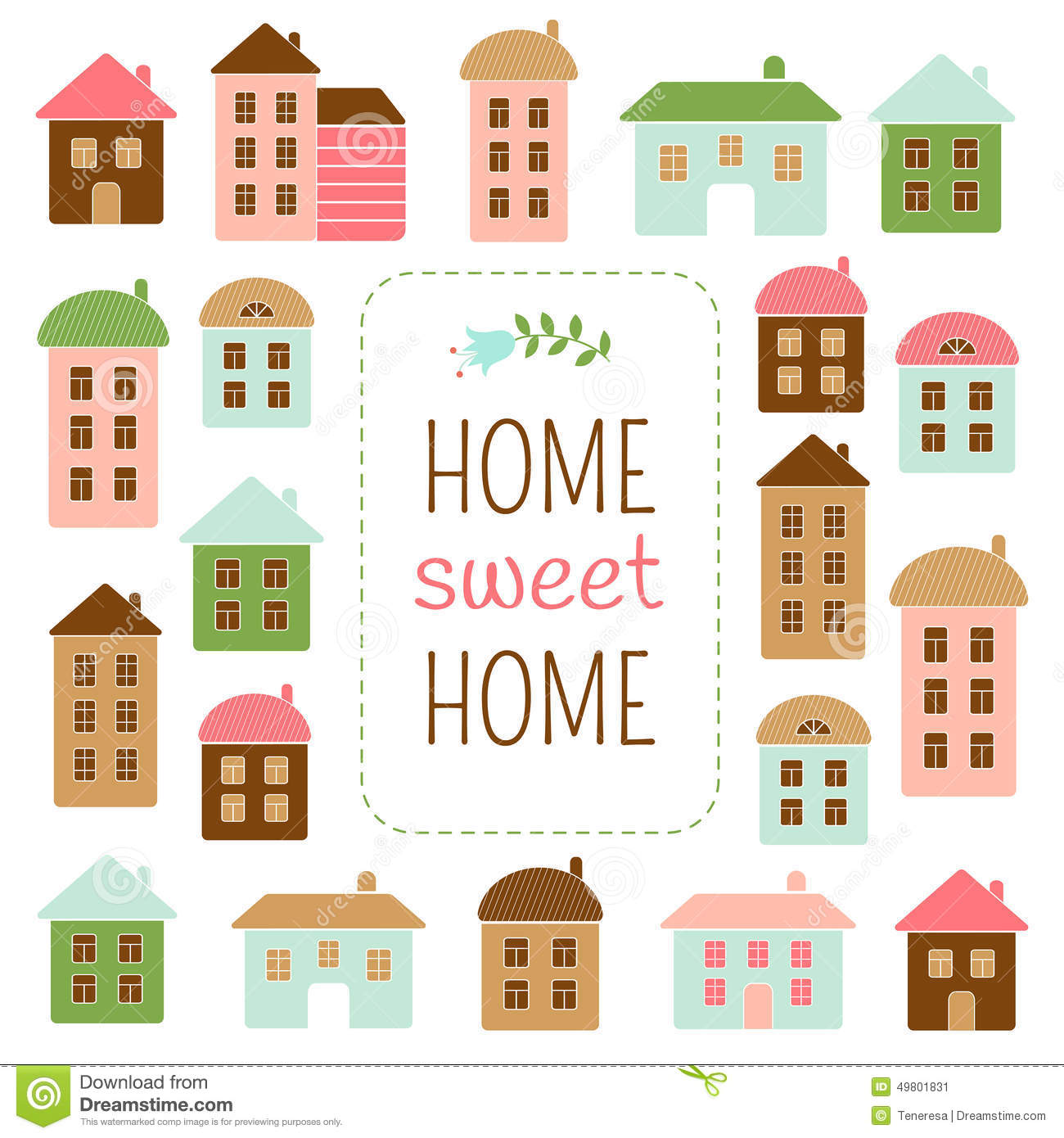 Home sweet home stock vector illustration of design for Shome home