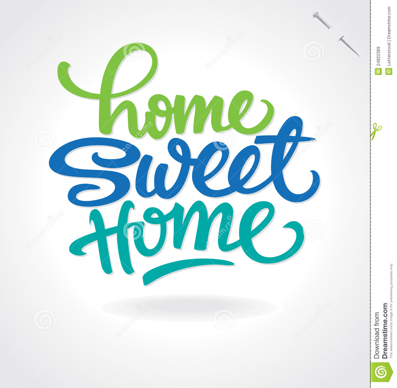 'home Sweet Home' Hand Lettering (vector) Royalty Free ...