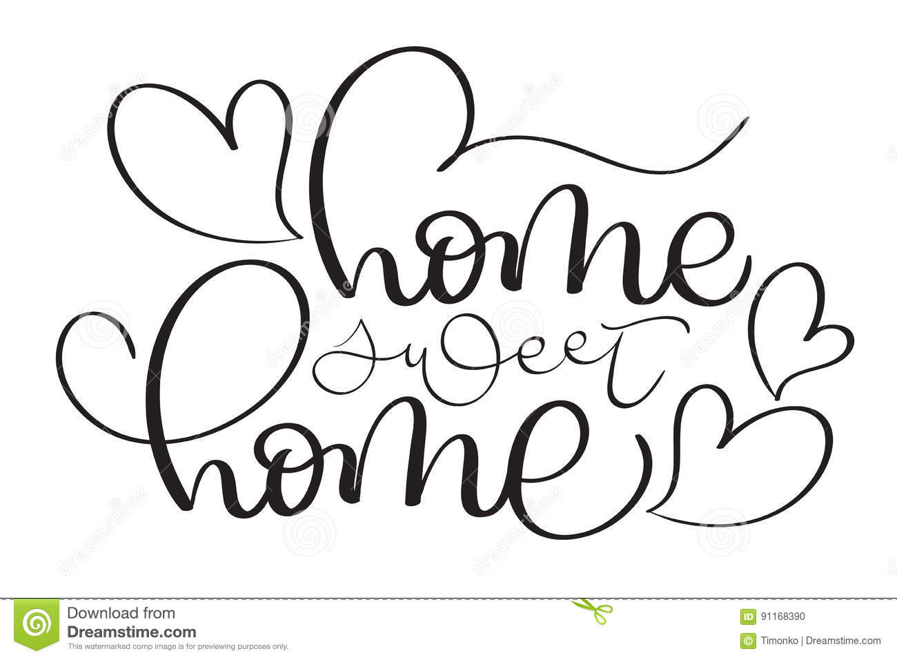 Home Sweet Home Vintage home sweet home hand made vector vintage text on white background