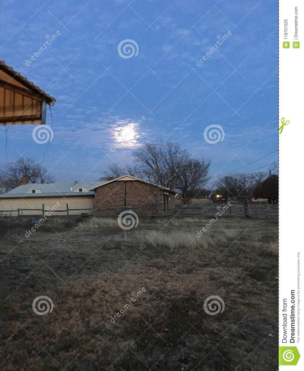 Harvest moon stock image  Image of moonlight, home, sweet - 118751525