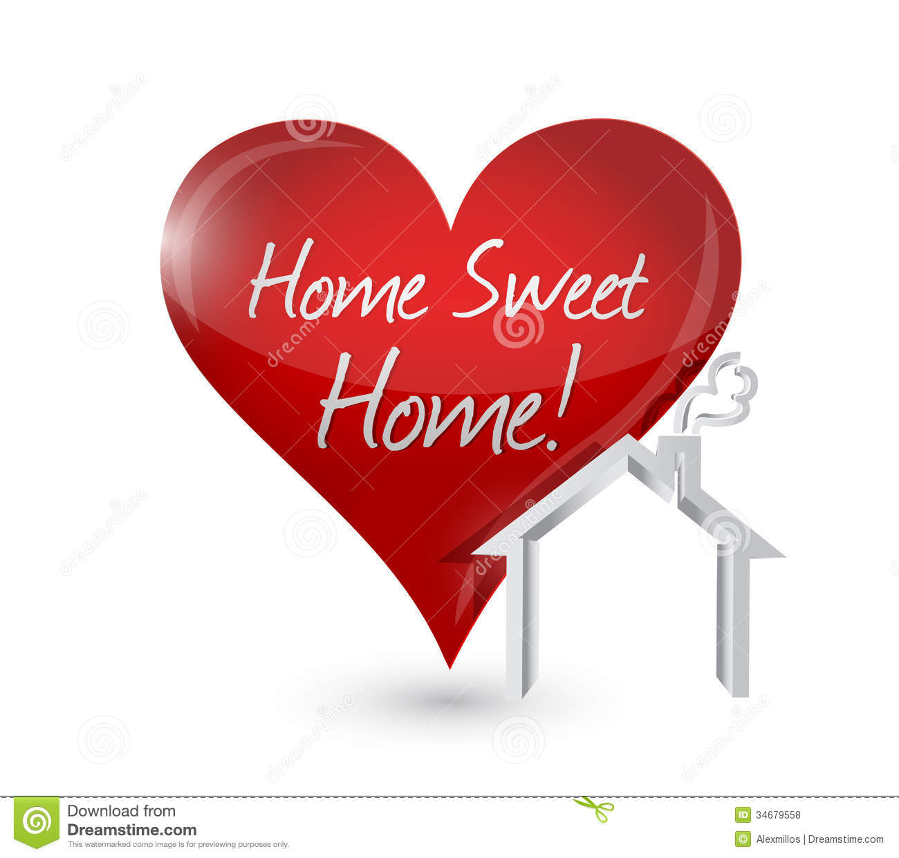 Home Sweet Home Heart Illustration Design Royalty Free Stock Photos