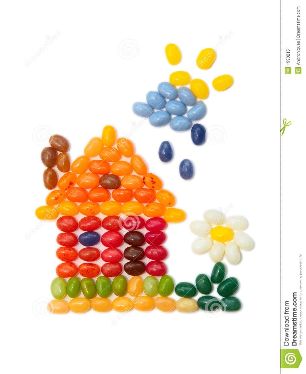sweet flower craft home sweet home jelly beans design stock image 3048