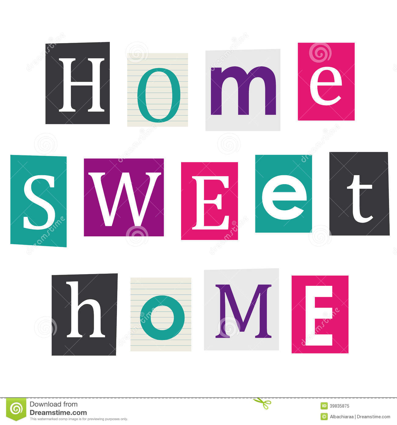 Home Sweet Stock Vector Image 39835875