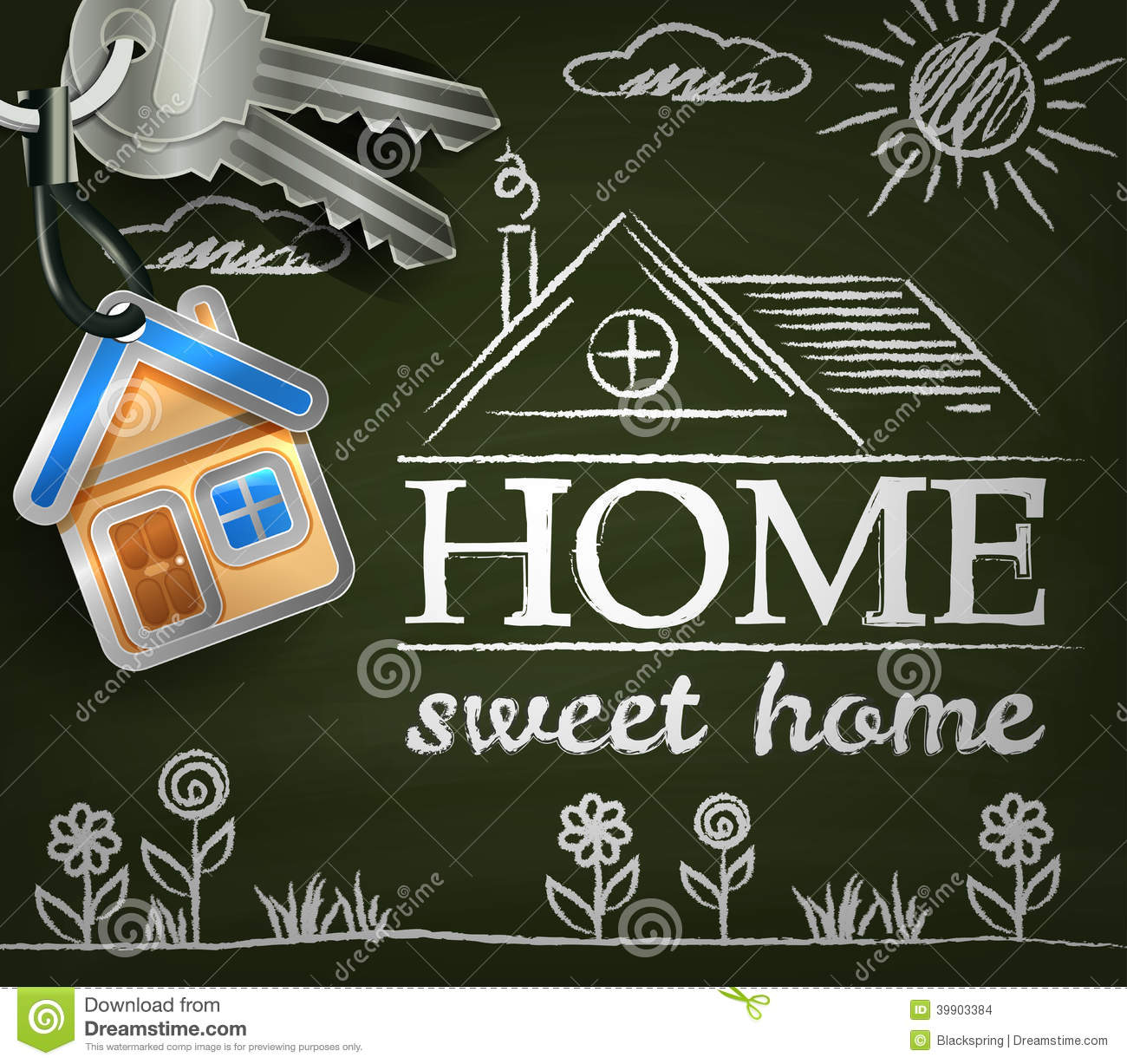 Home Sweet Home Poster Stock Vector Image 39903384