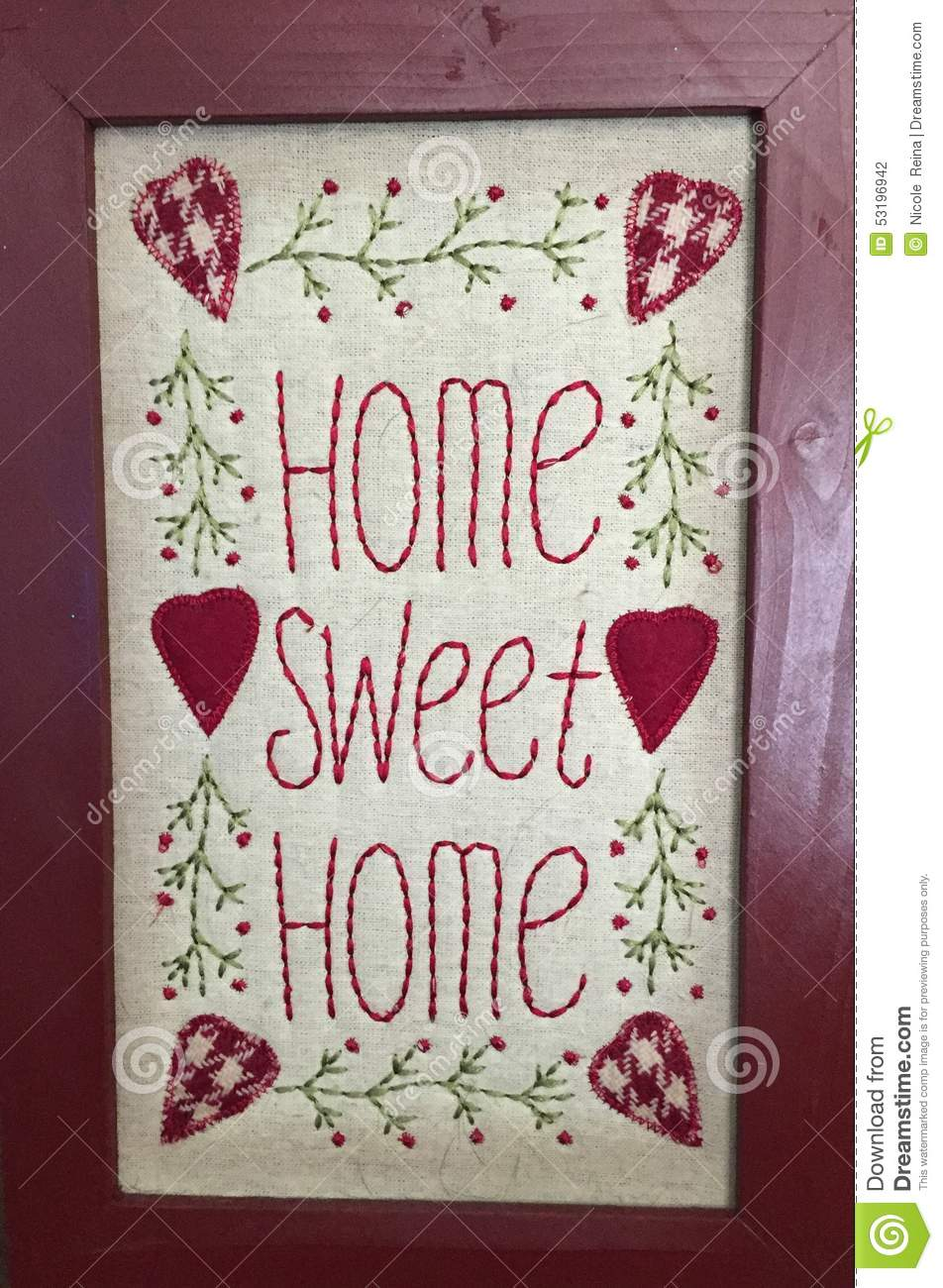 Home Sweet Home Stock Photo Image Of Many Decor Know 53196942
