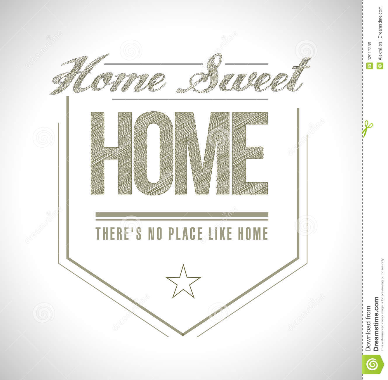 Home Sweet Home Seal Illustration Design Royalty Free