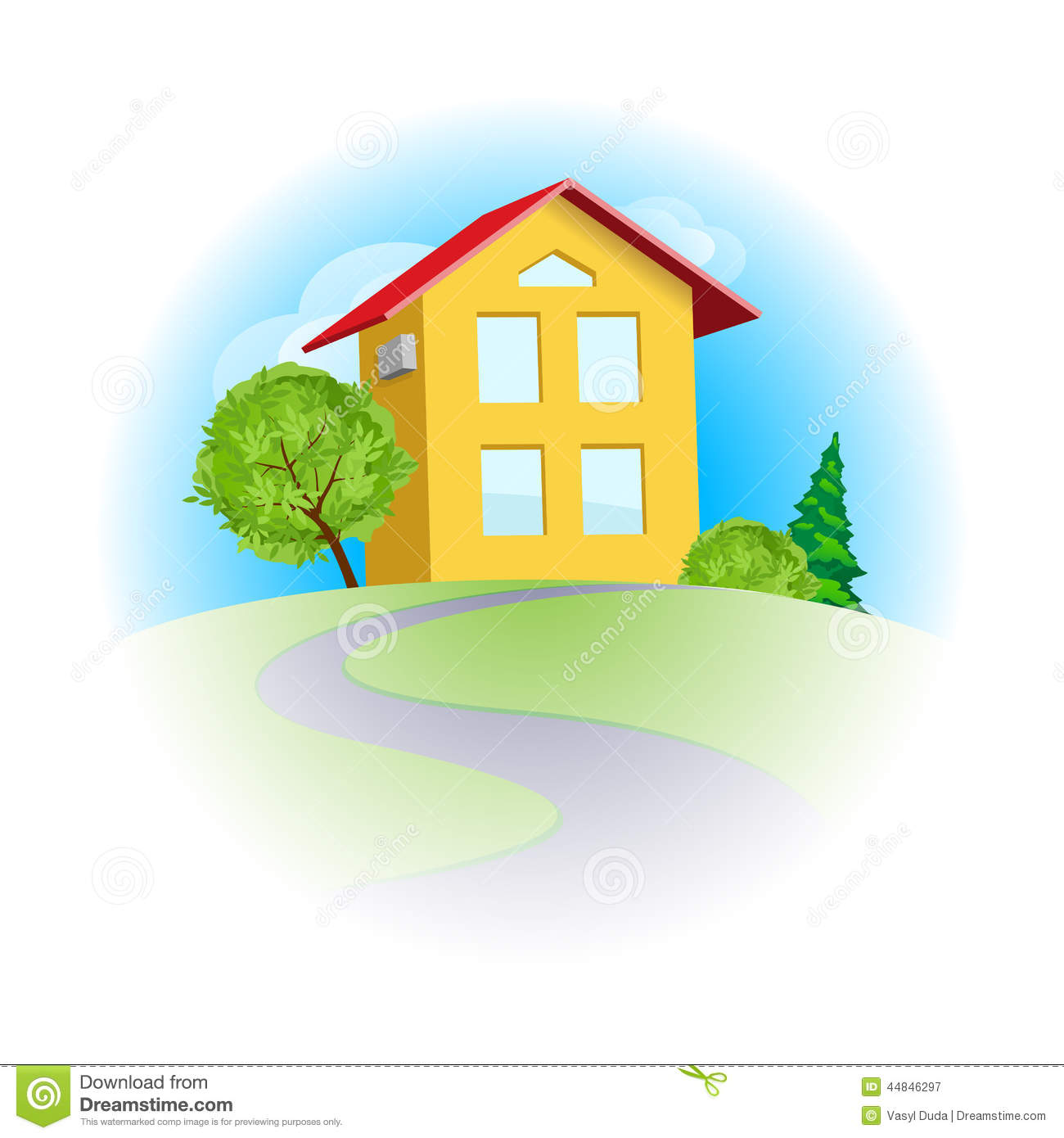home sweet home stock vector image 44846297 sunny clip art coloring sunny clip art coloring